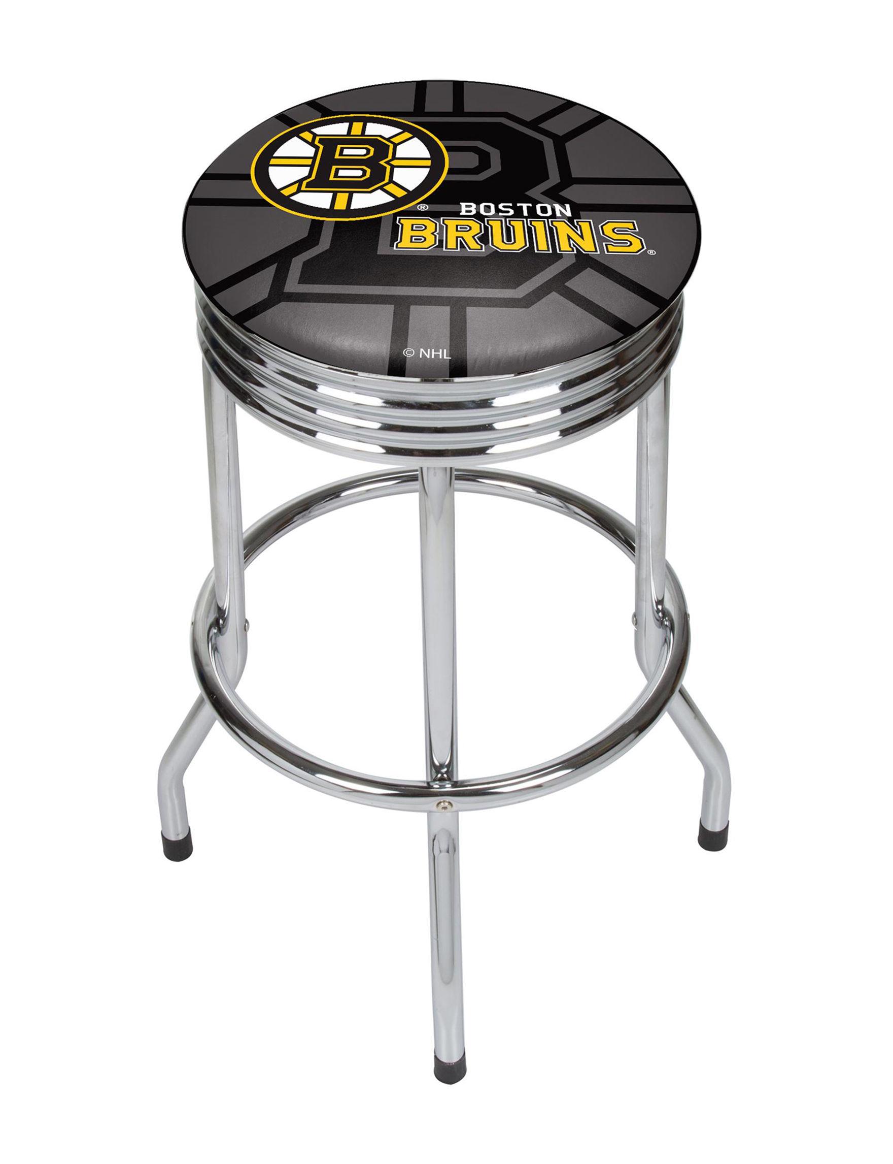 NHL Black / Yellow Bar & Kitchen Stools Kitchen & Dining Furniture