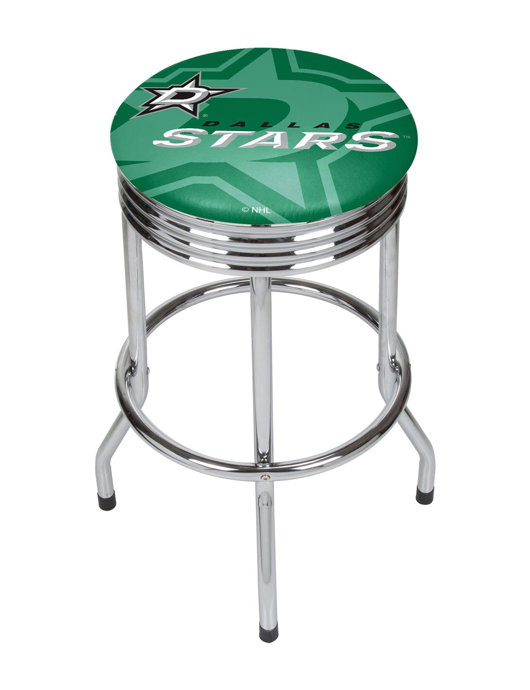 NHL Green / Black Bar & Kitchen Stools Kitchen & Dining Furniture NHL