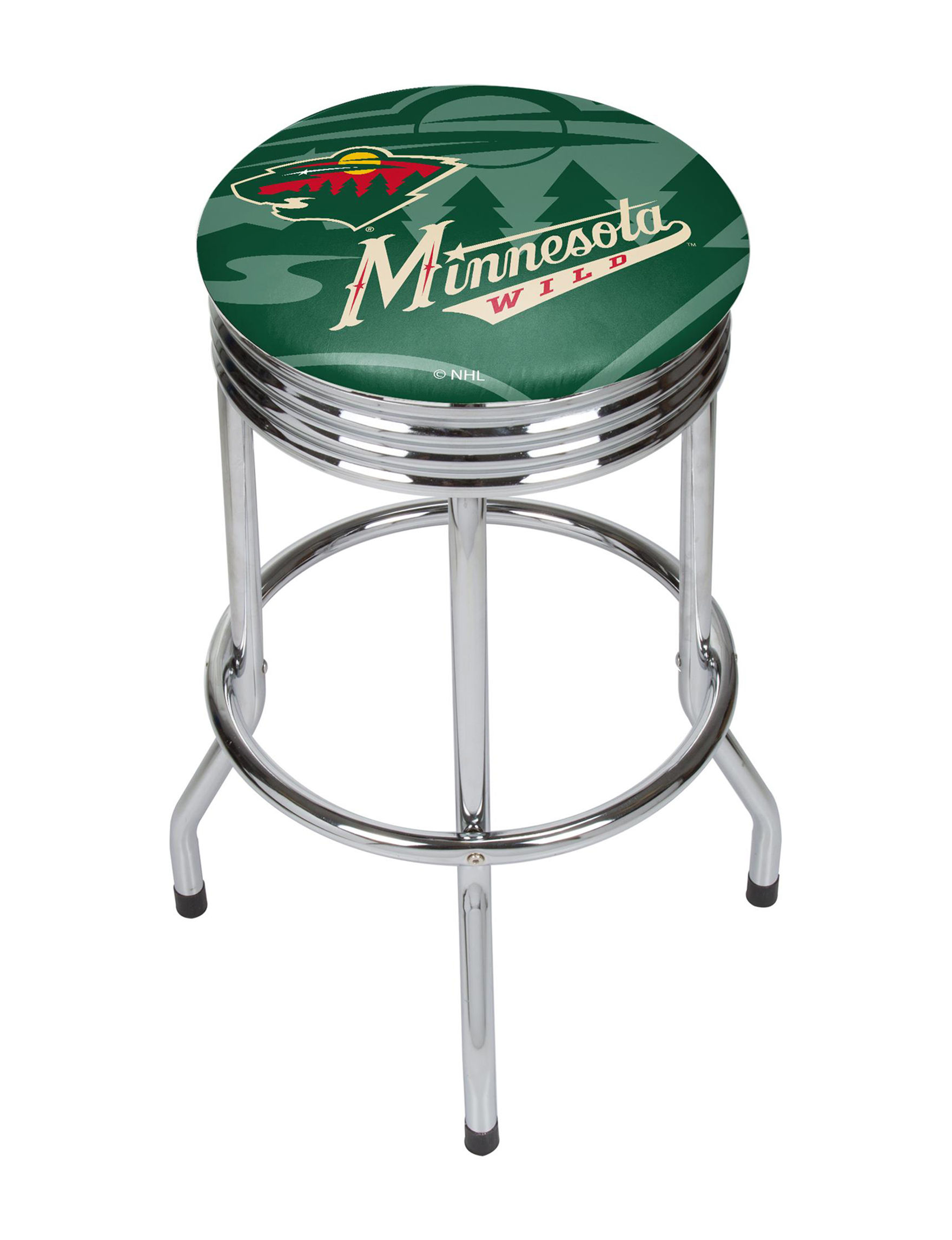 NHL Green / Red Bar & Kitchen Stools Kitchen & Dining Furniture