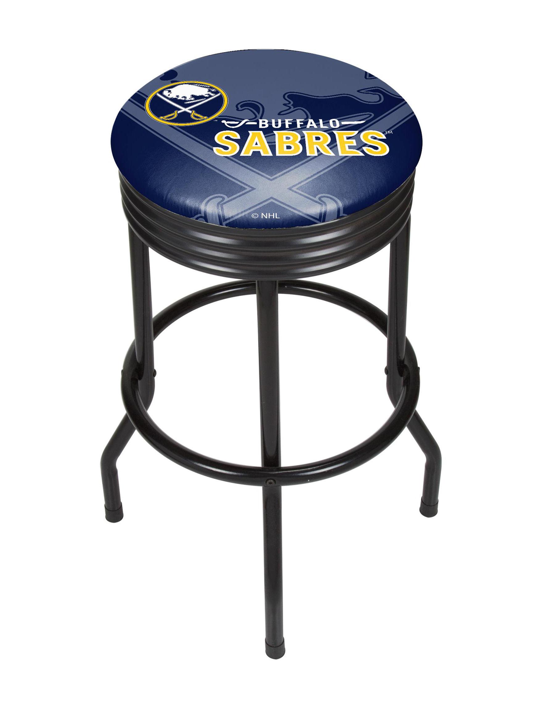 NHL Navy / Yellow Bar & Kitchen Stools Kitchen & Dining Furniture