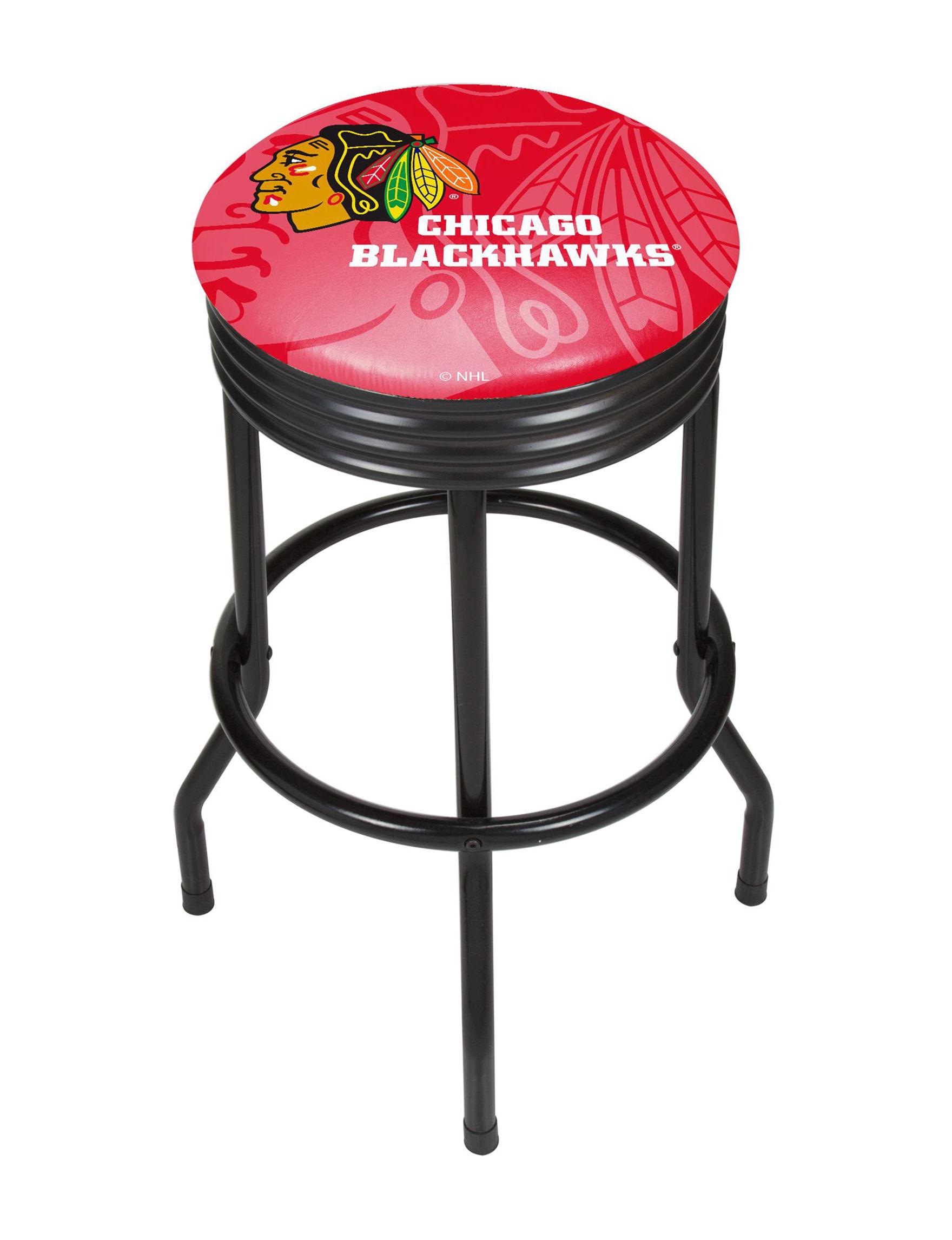 NHL Red / White Bar & Kitchen Stools Kitchen & Dining Furniture