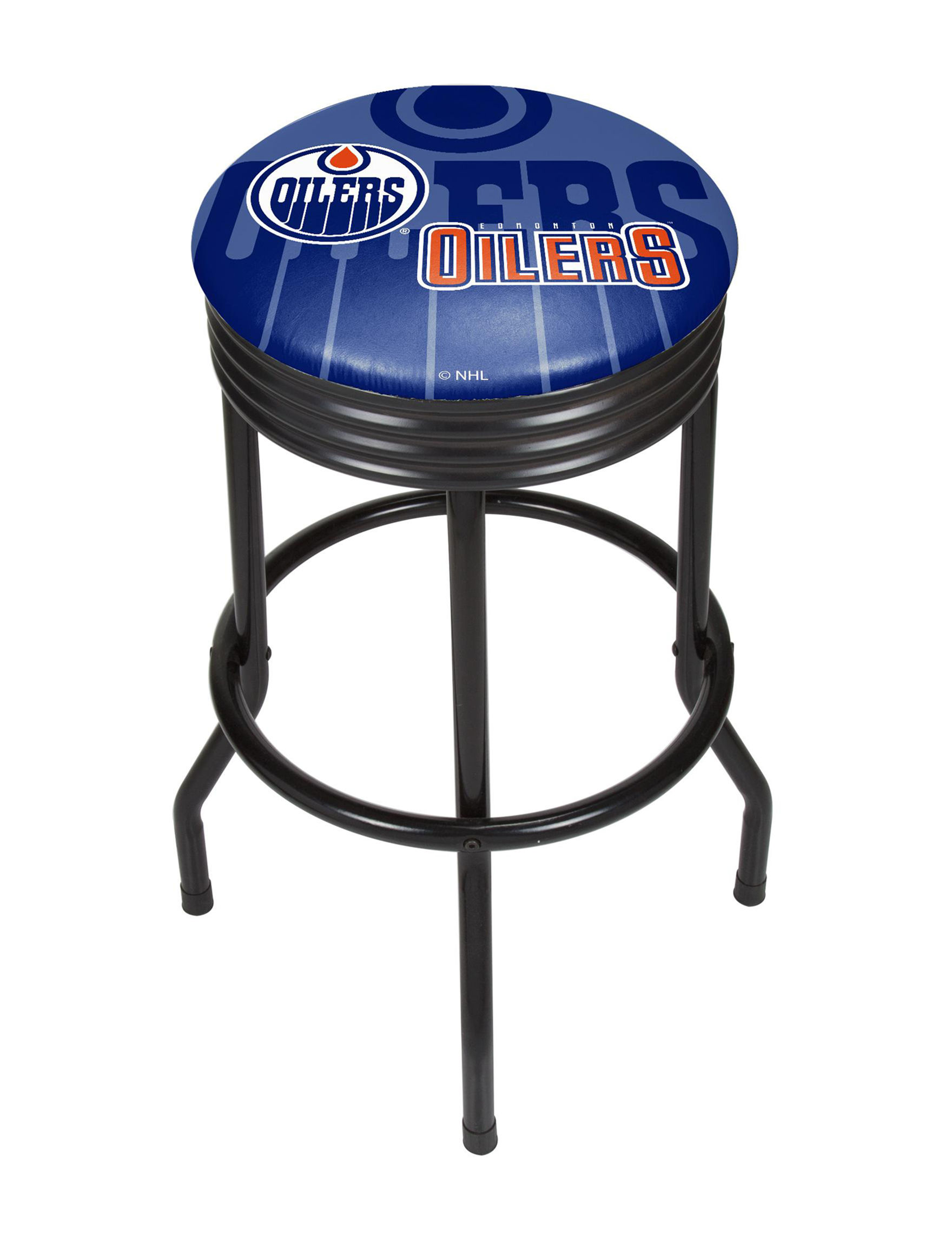 NHL Blue / Orange Bar & Kitchen Stools Kitchen & Dining Furniture