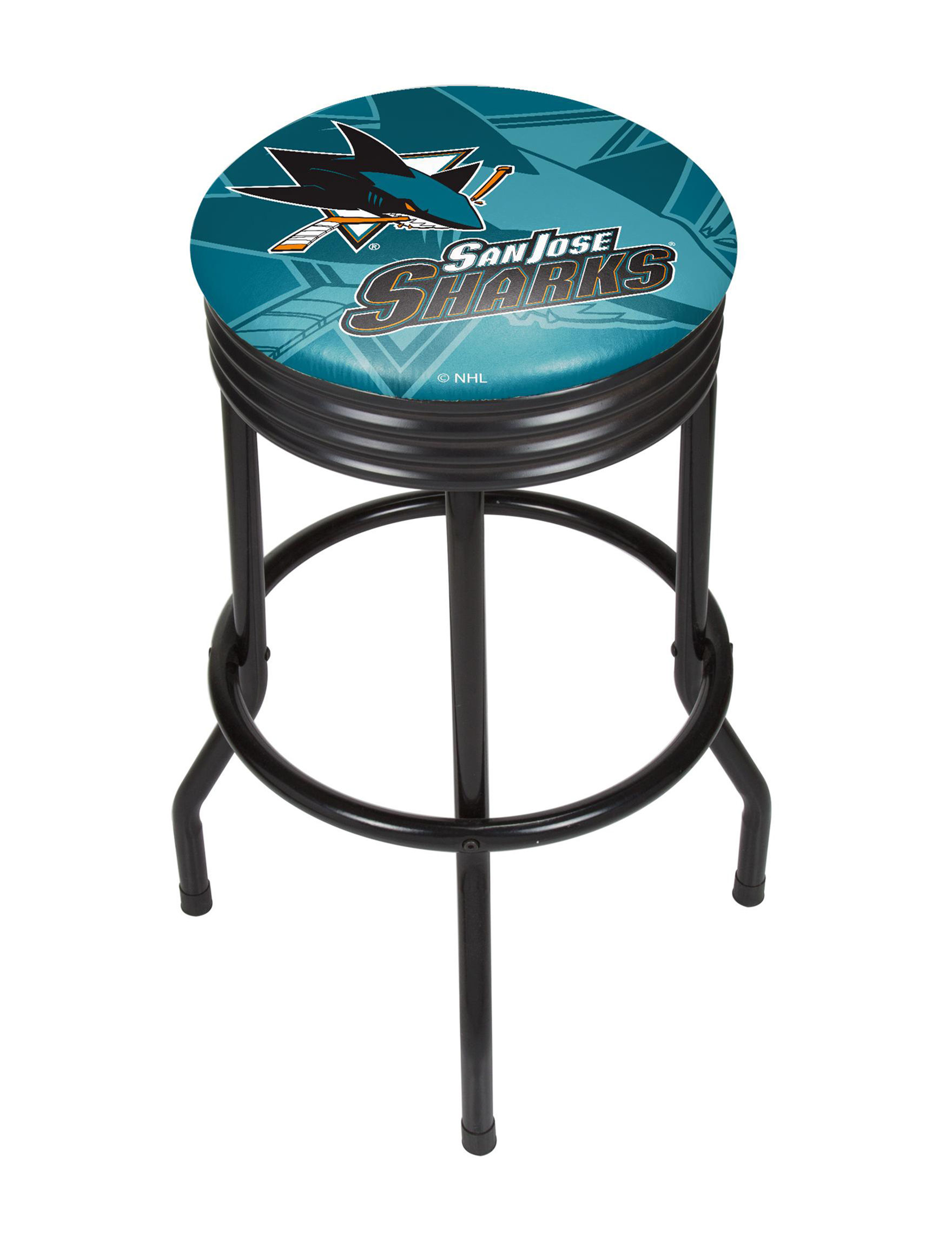 NHL Teal / Black Bar & Kitchen Stools Kitchen & Dining Furniture