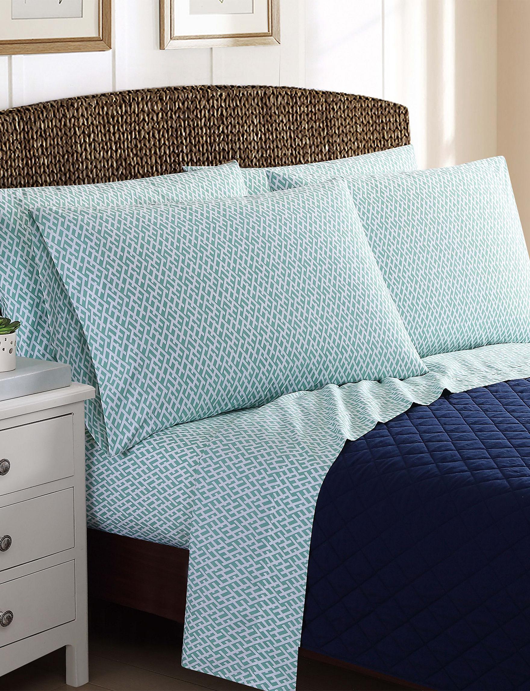 Oceanfront Resort Teal Sheets & Pillowcases