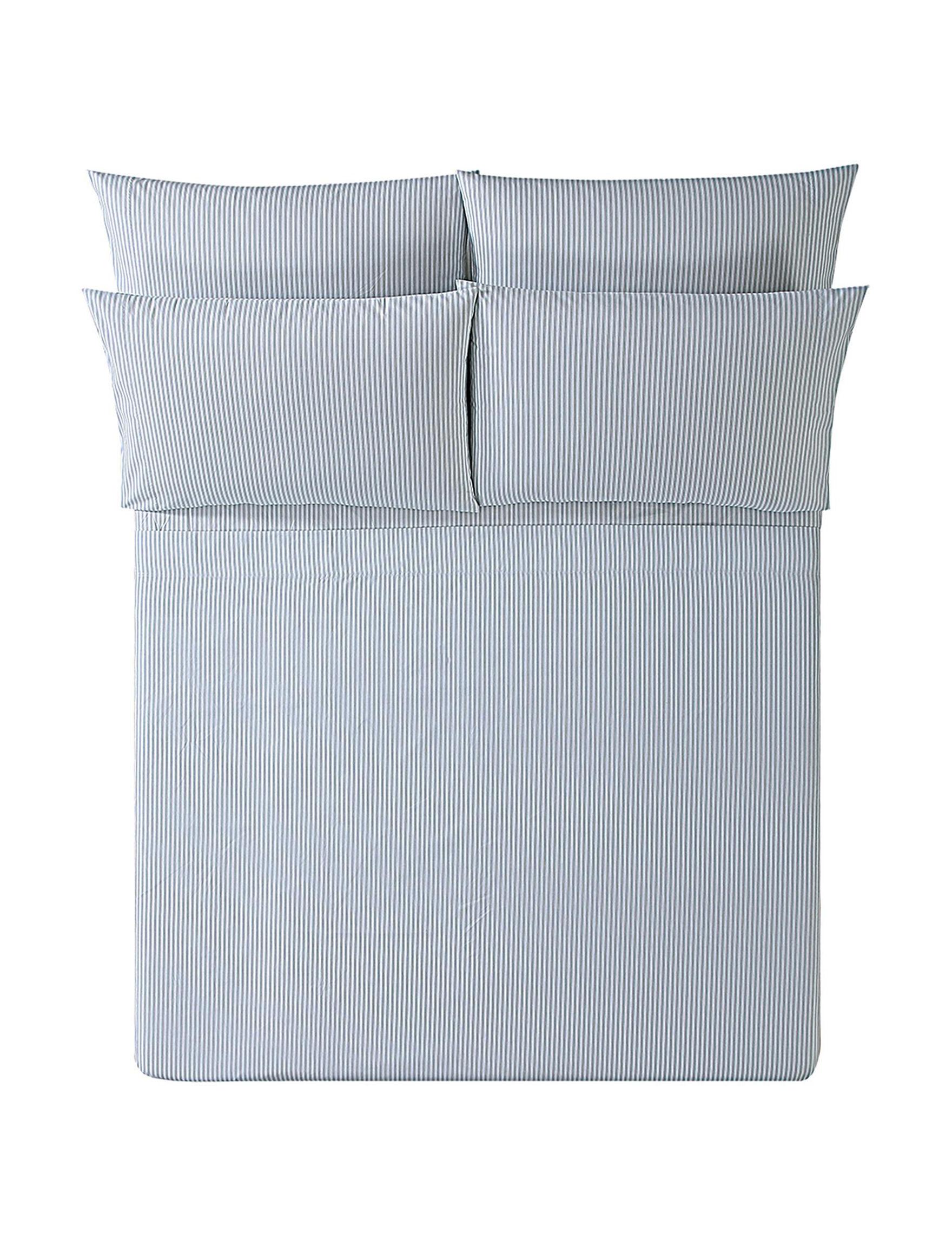 Oceanfront Resort Grey Stripe Sheets & Pillowcases