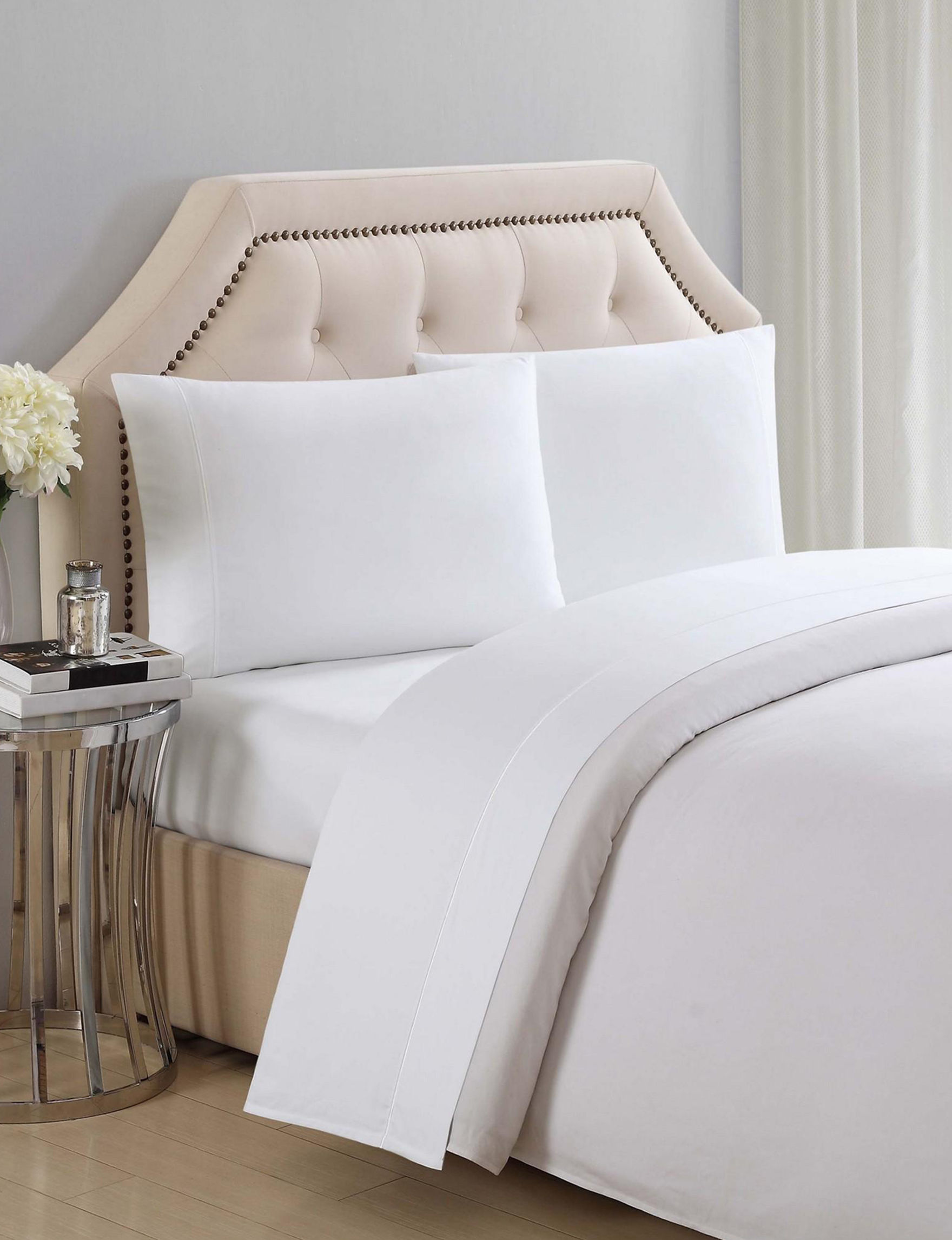 Charisma White Sheets & Pillowcases