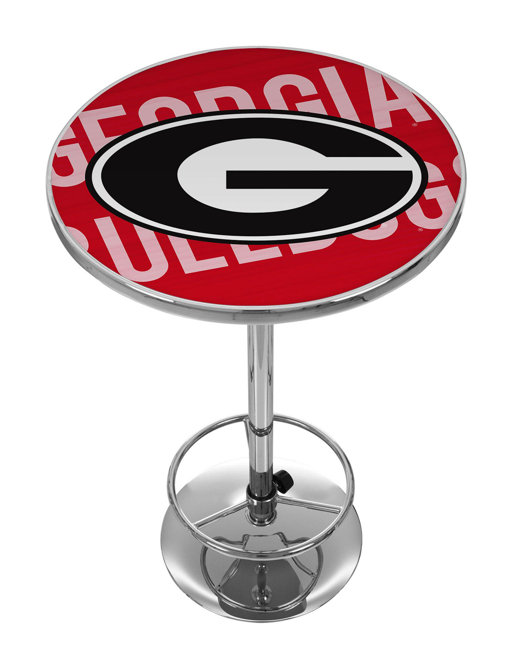 NCAA Red / Black / White Dining Tables Kitchen & Dining Furniture