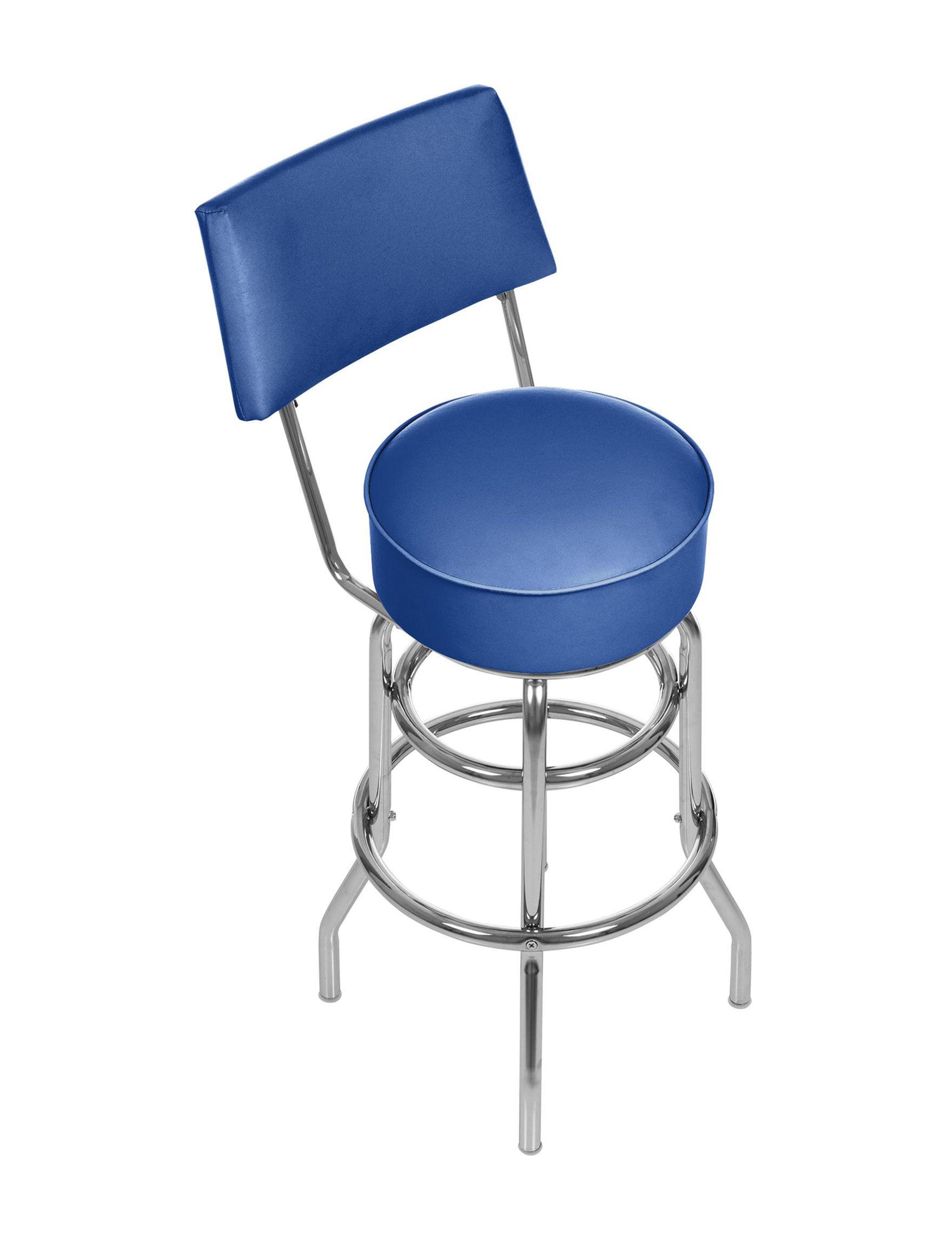 Trademark Global Blue Bar & Kitchen Stools Kitchen & Dining Furniture