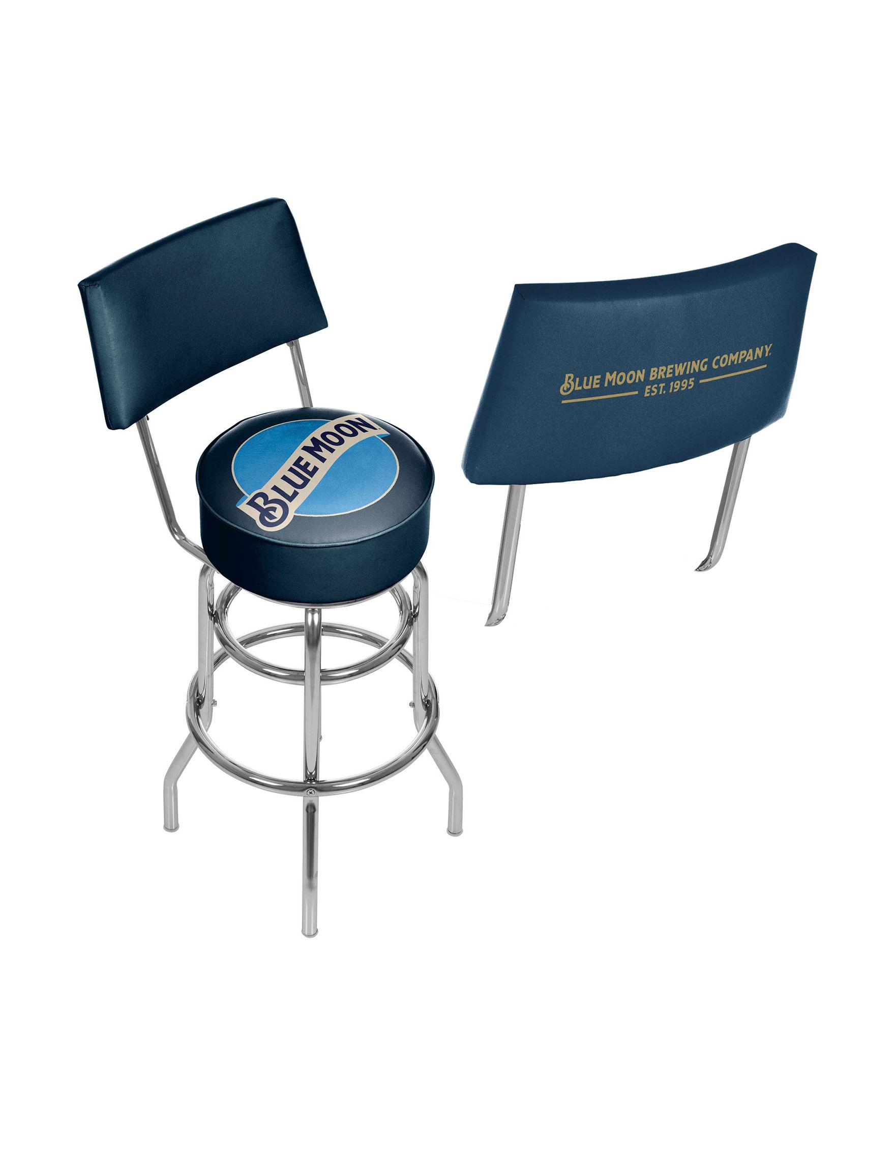 Trademark Global Blue / Ivory Bar & Kitchen Stools Kitchen & Dining Furniture