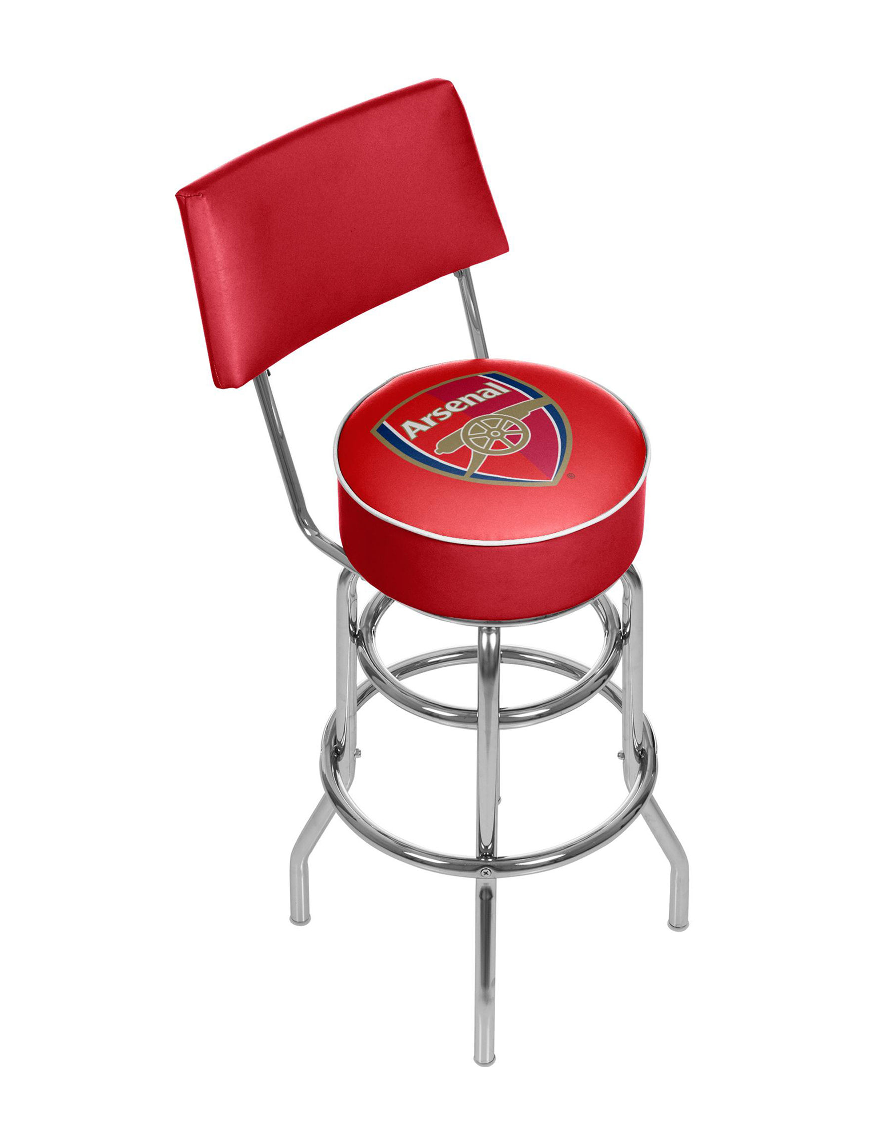 Trademark Global Red / Gold Bar & Kitchen Stools Kitchen & Dining Furniture