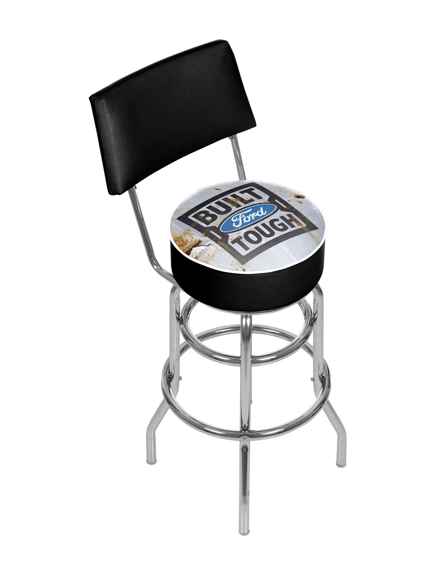 Trademark Global Grey / Black Bar & Kitchen Stools Kitchen & Dining Furniture
