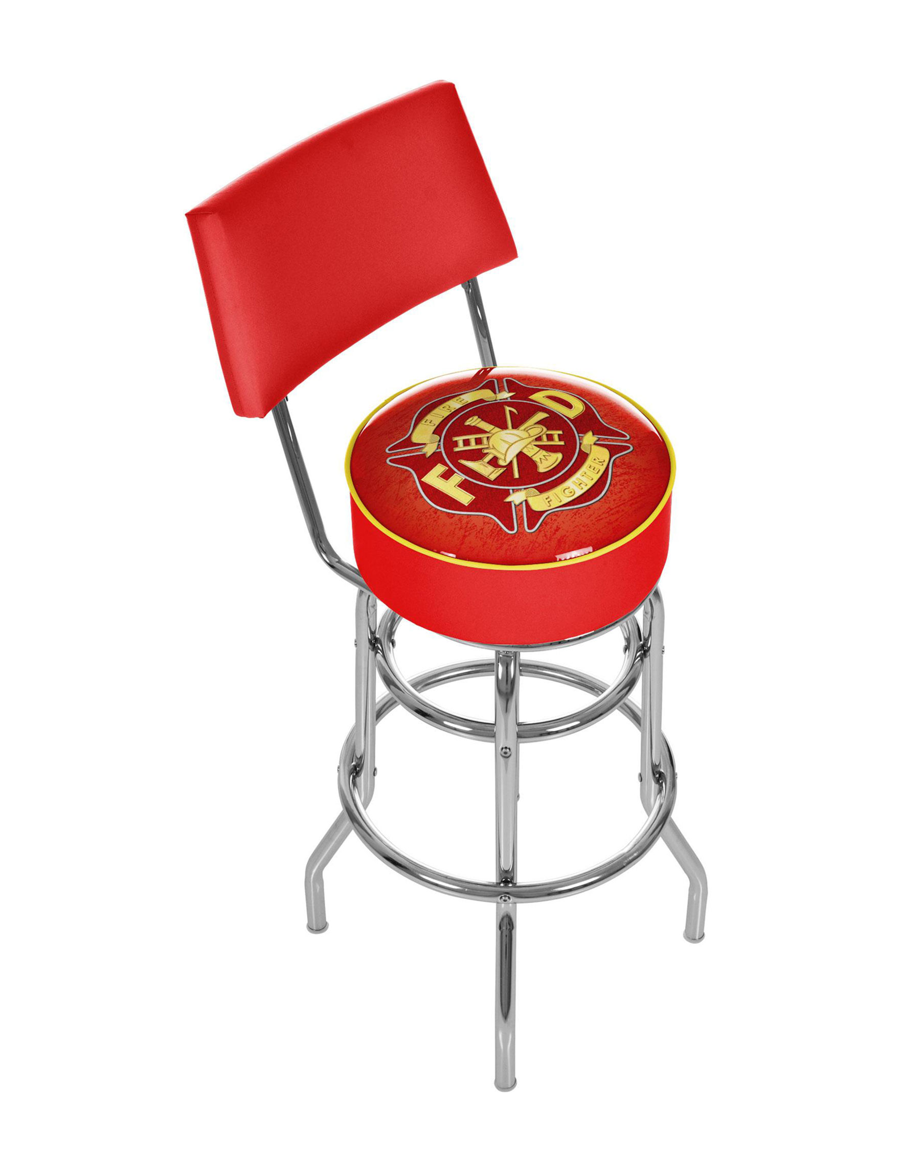 Trademark Global Red / Gold Bar & Kitchen Stools Kitchen & Dining Furniture