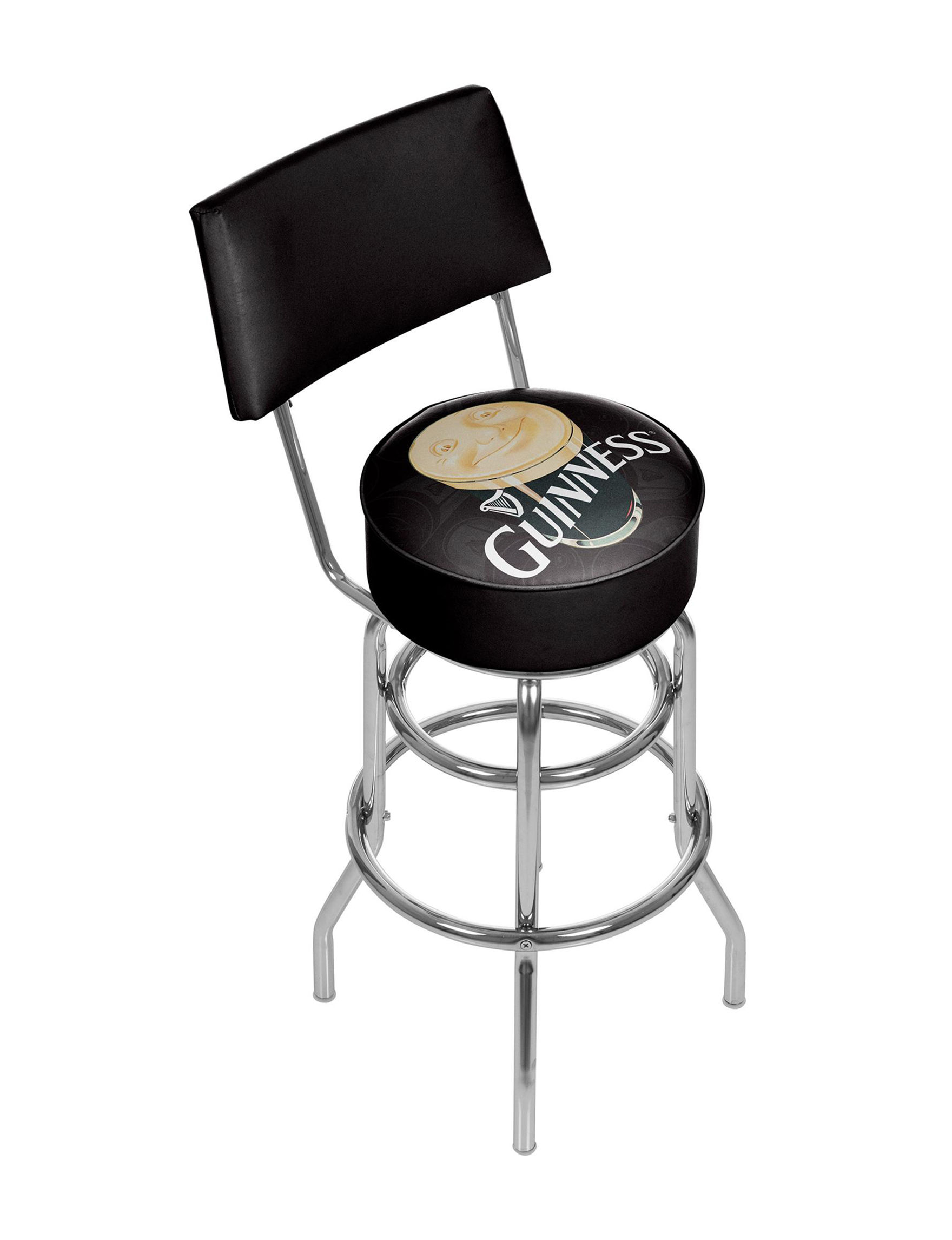 Trademark Global Black / Cream Bar & Kitchen Stools Kitchen & Dining Furniture