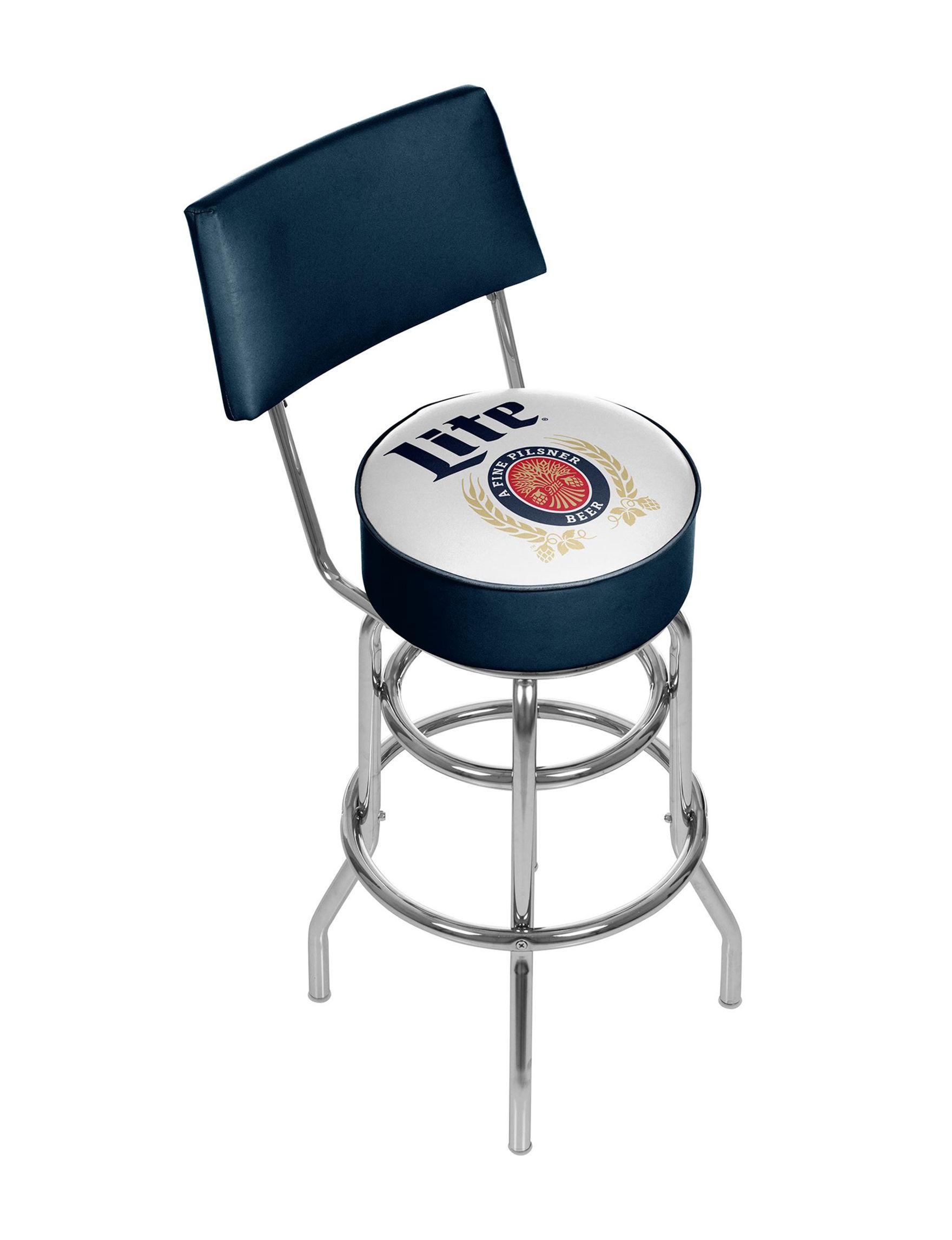 Trademark Global Red / White / Blue Bar & Kitchen Stools Kitchen & Dining Furniture