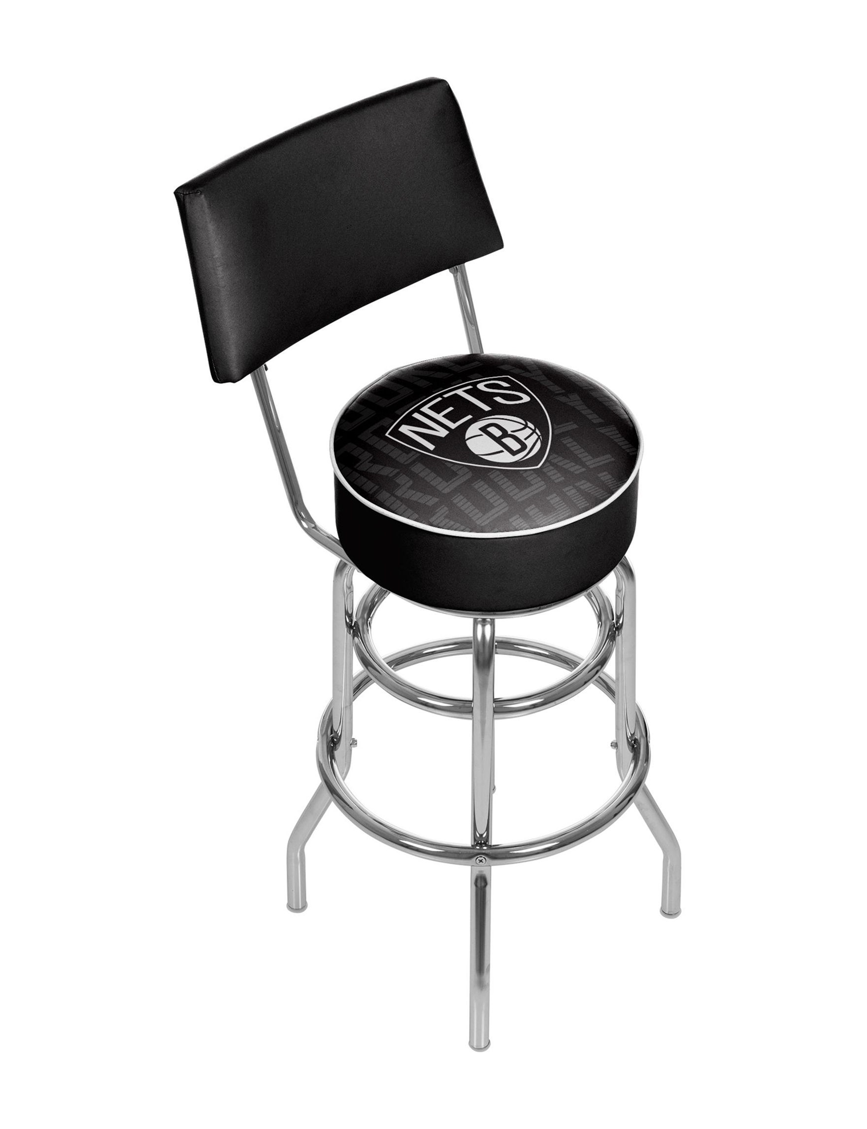 Trademark Global Black / White Bar & Kitchen Stools Kitchen & Dining Furniture