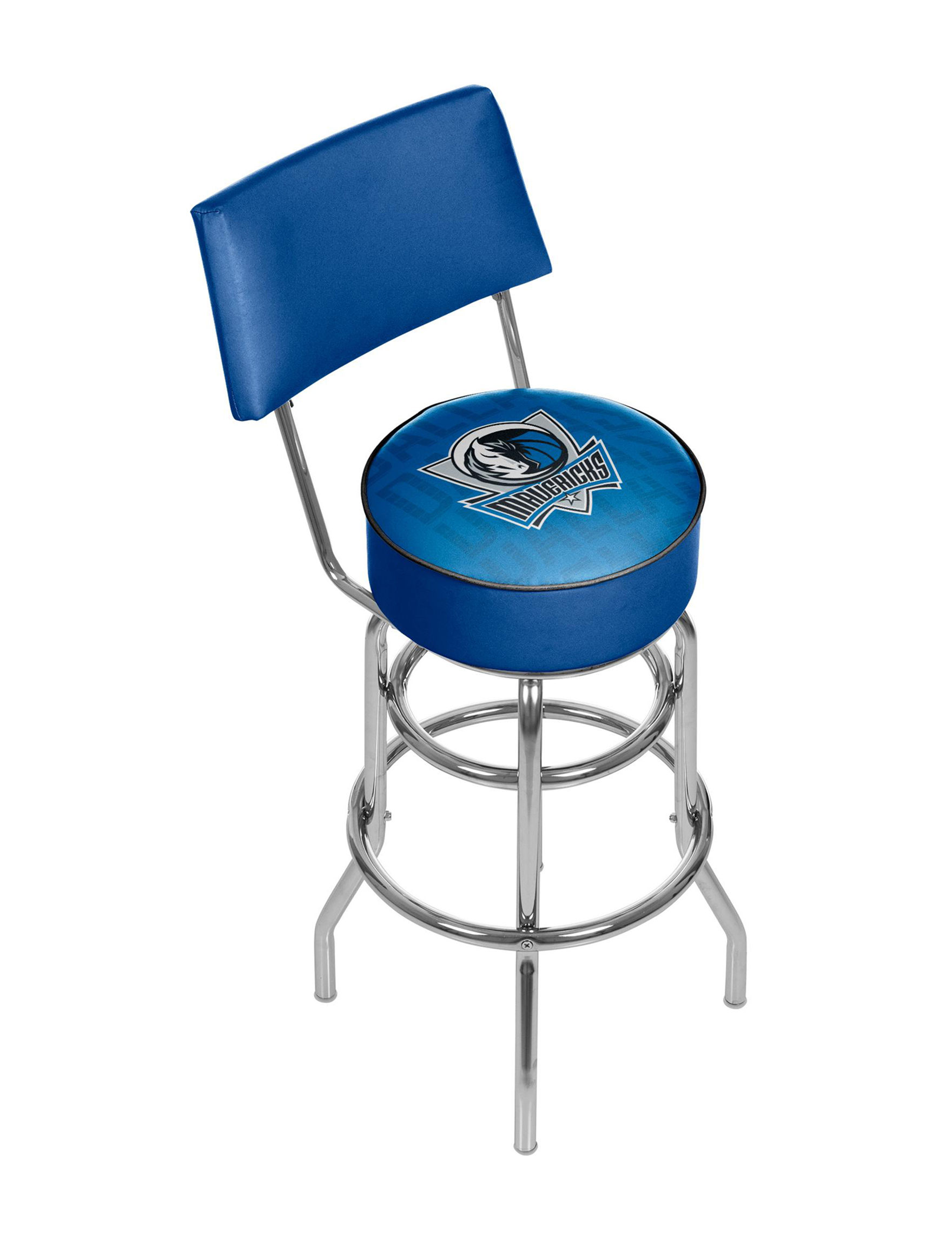 Trademark Global Blue / Silver Bar & Kitchen Stools Kitchen & Dining Furniture