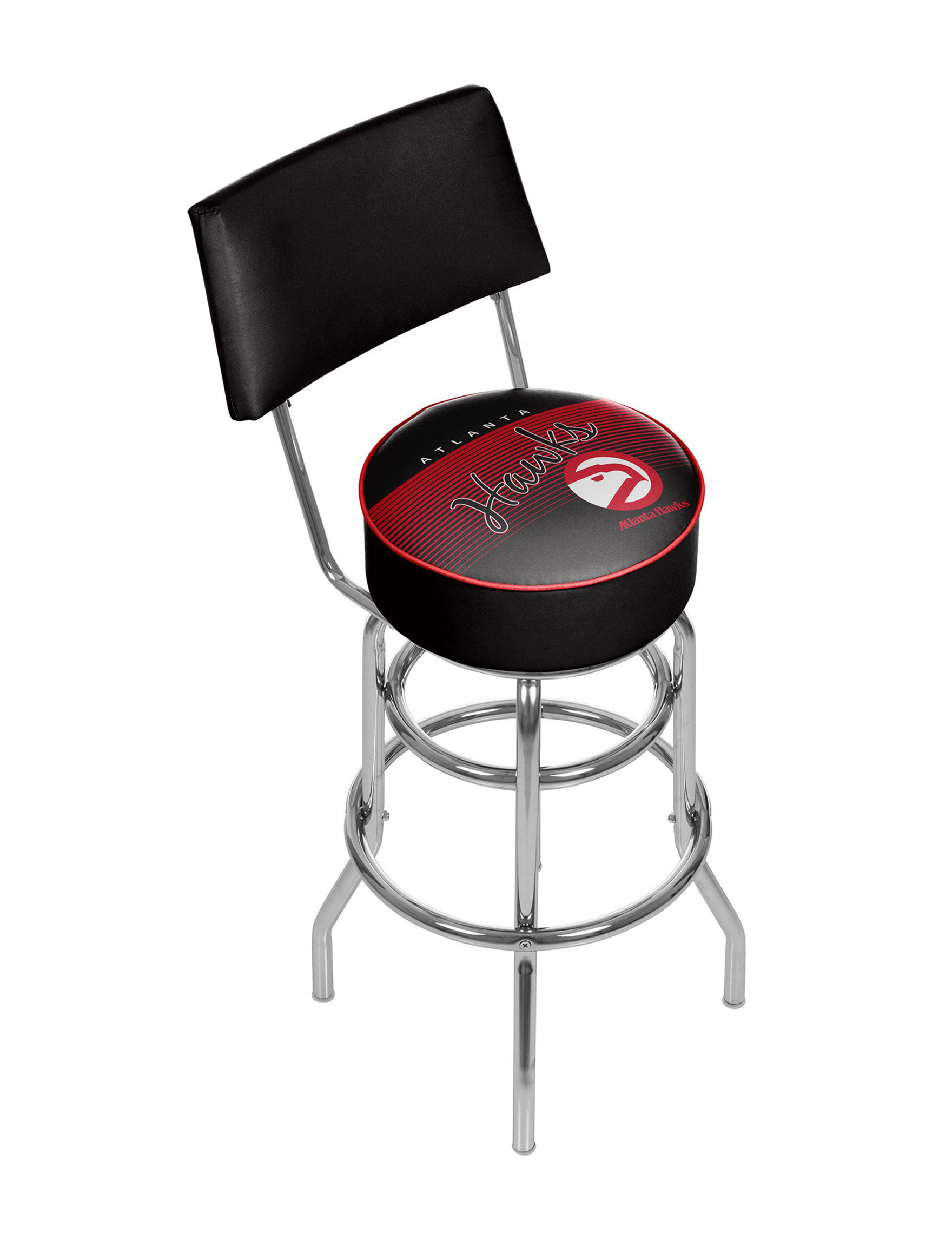 Trademark Global Red / Black / White Bar & Kitchen Stools Kitchen & Dining Furniture