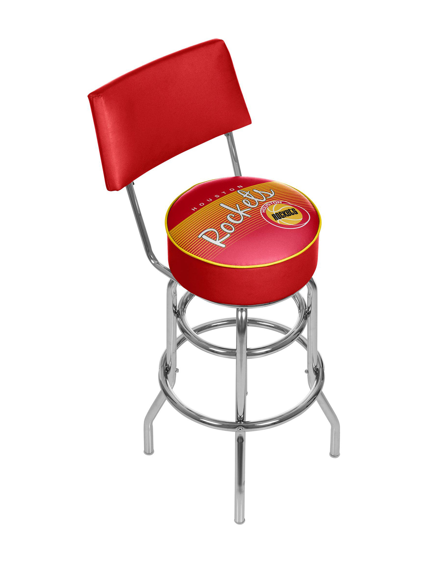Trademark Global Red / Yellow Bar & Kitchen Stools Kitchen & Dining Furniture