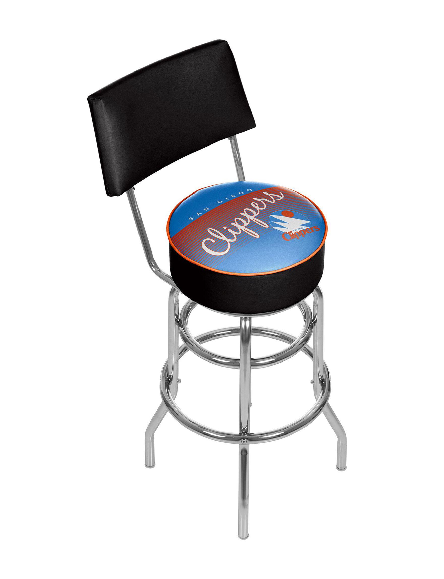 Trademark Global Blue / Orange Bar & Kitchen Stools Kitchen & Dining Furniture