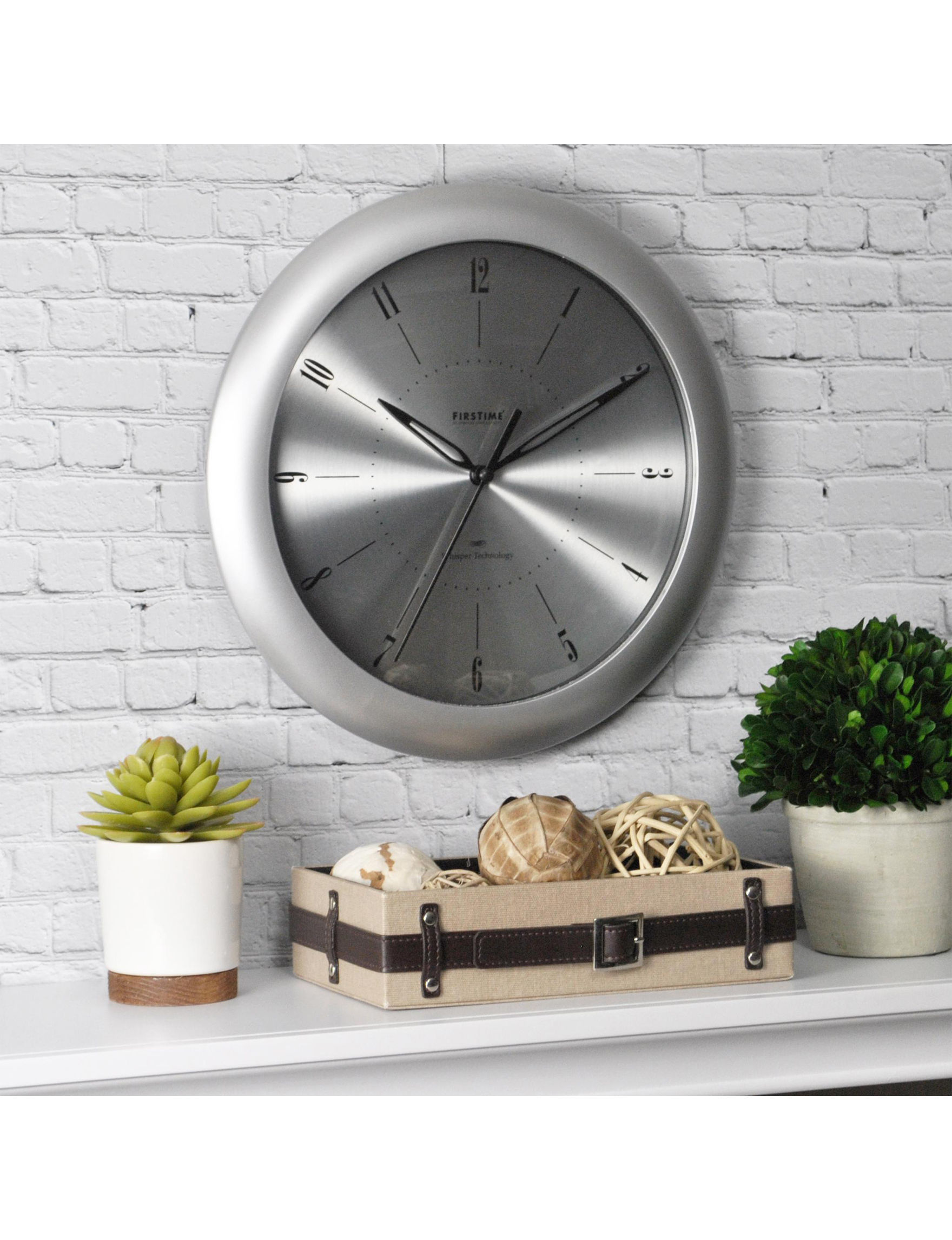 Firstime Manufactory Silver Wall Clocks Wall Decor