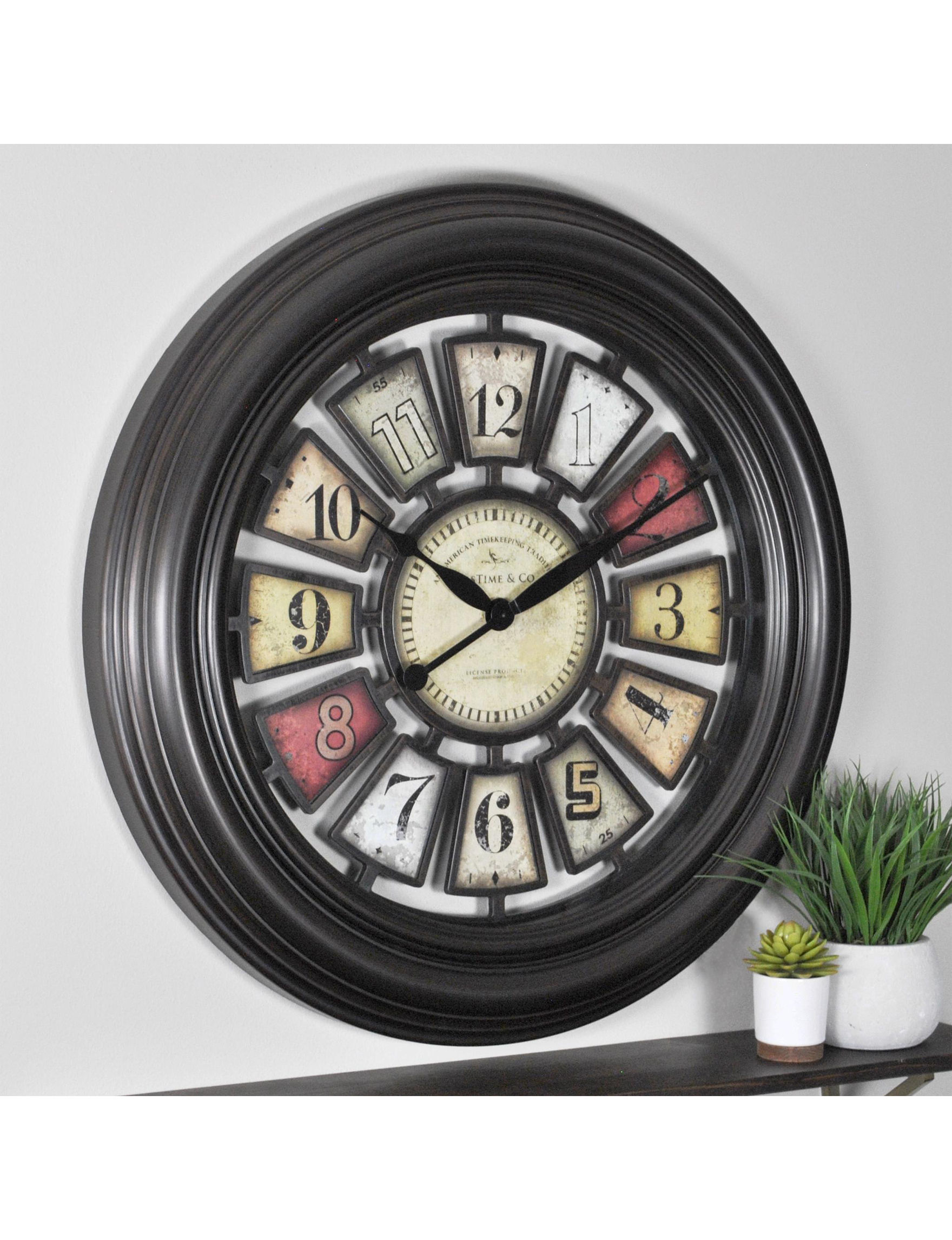 Firstime Manufactory Bronze Wall Clocks Wall Decor