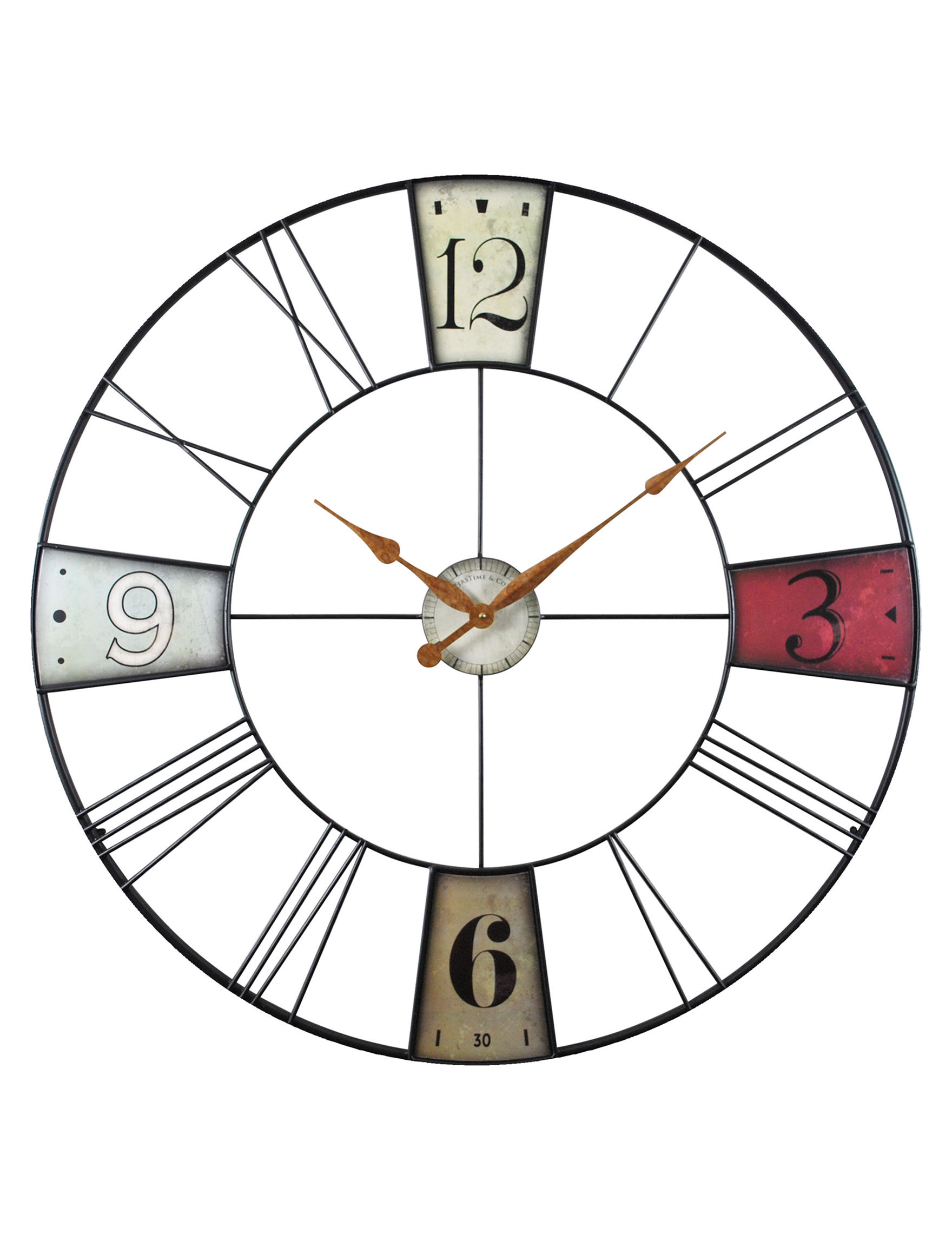 Firstime Manufactory Multi Color Wall Clocks Wall Decor