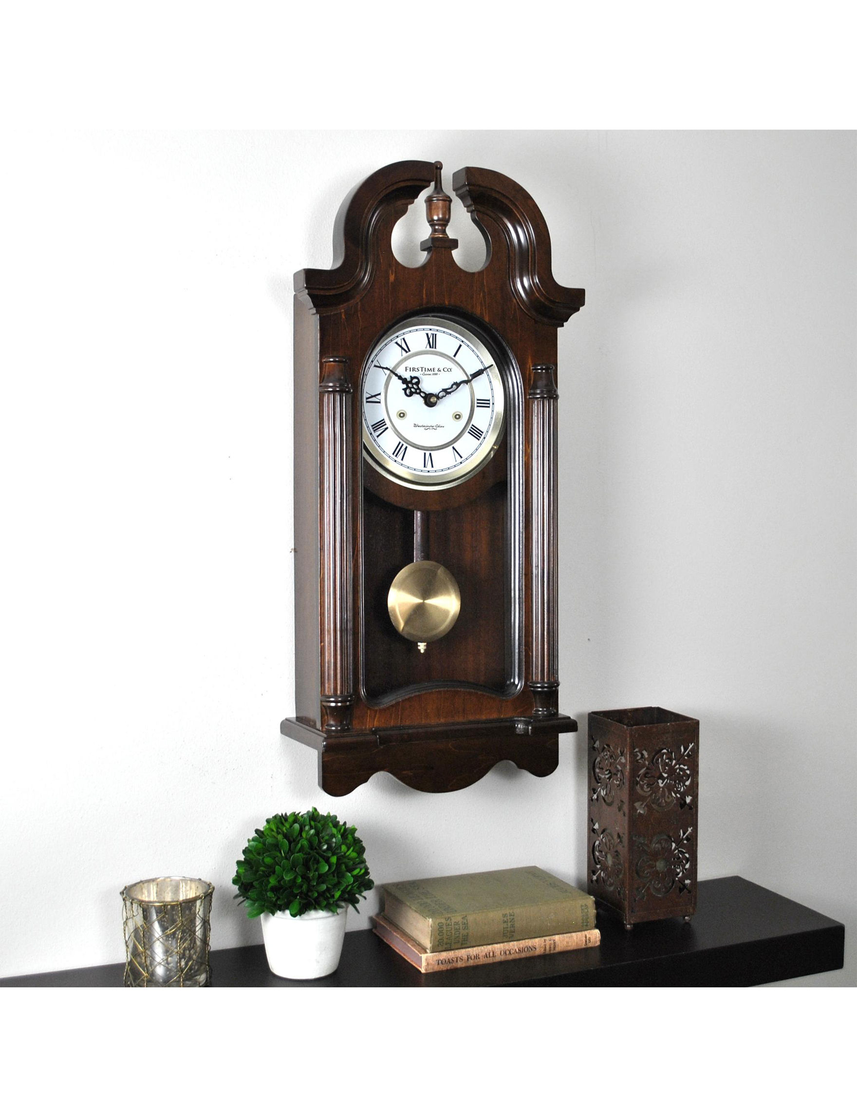 Firstime Manufactory Brown Wall Clocks Wall Decor