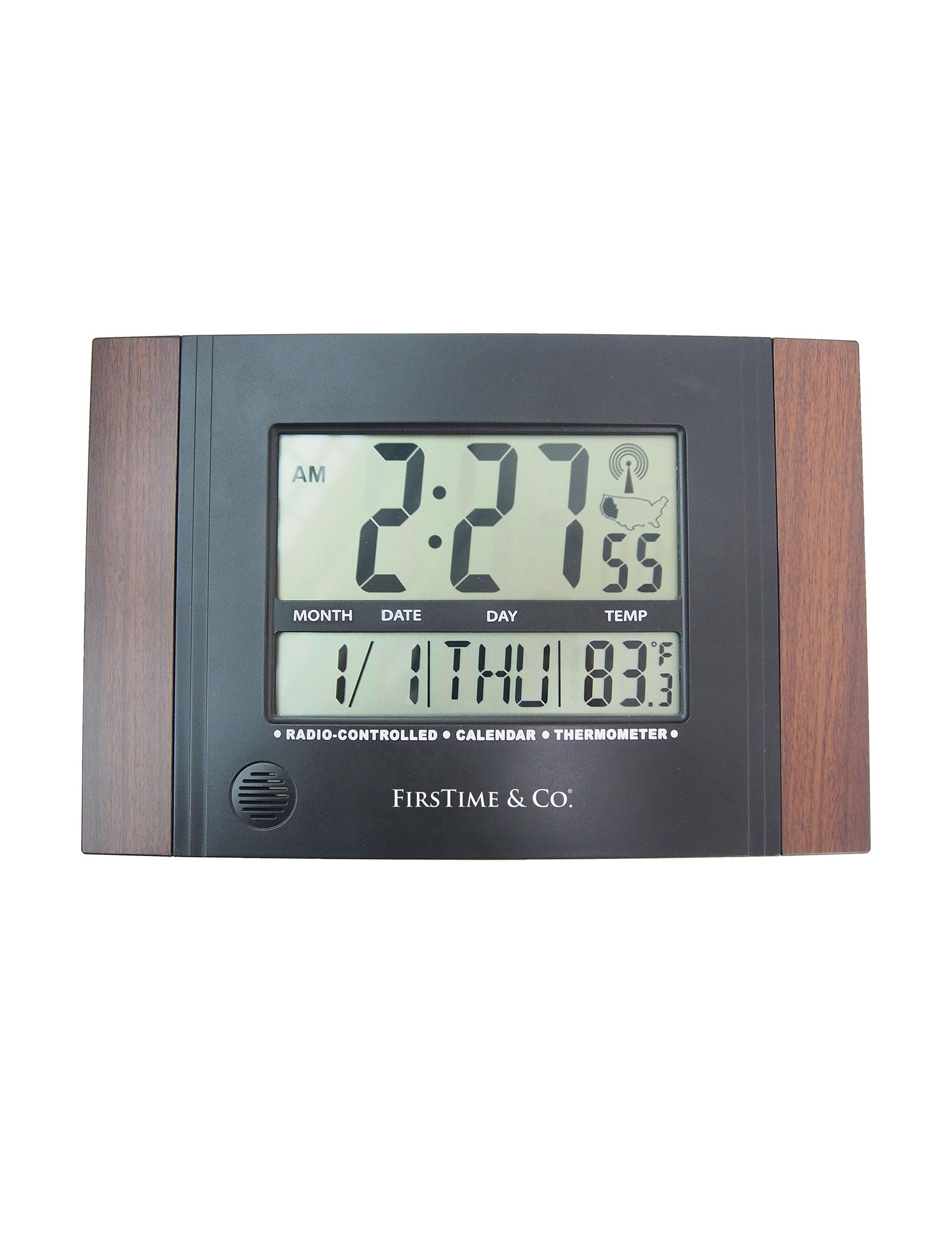 Firstime Manufactory Black Desk Clocks Home Accents