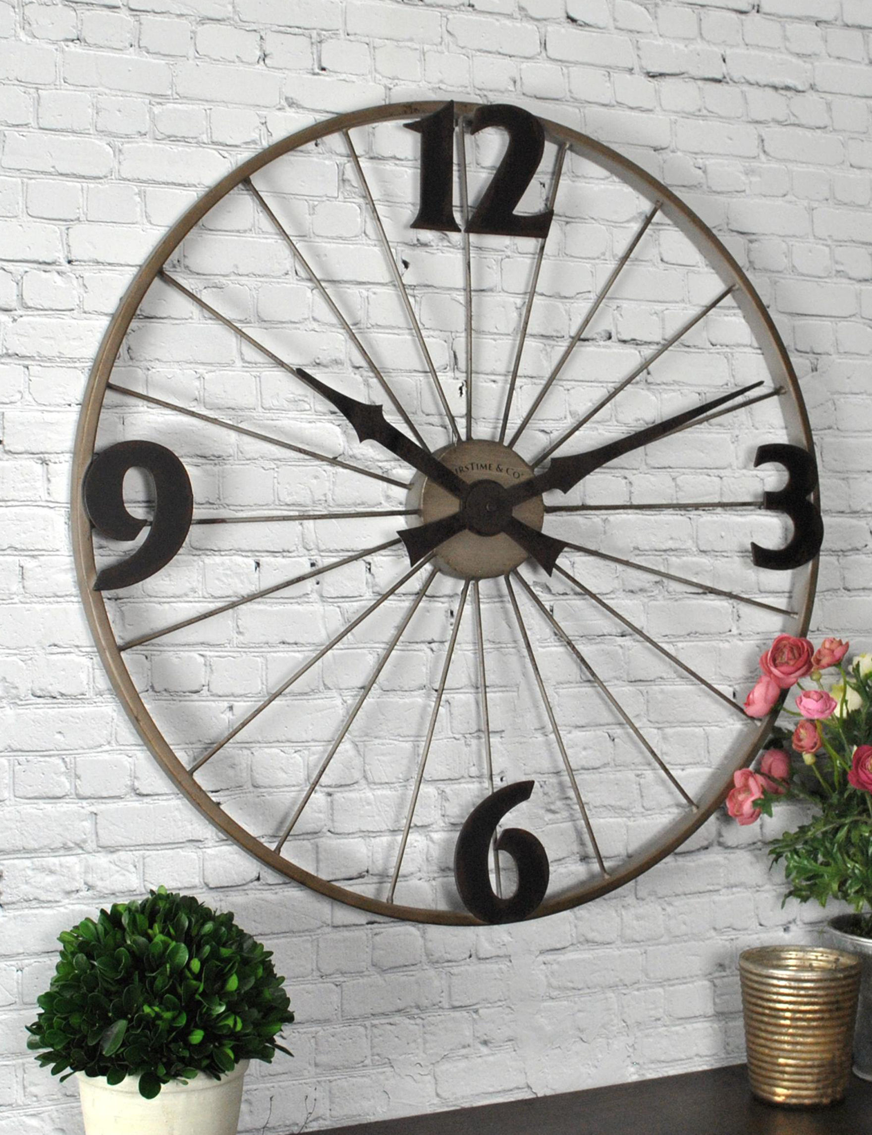 Firstime Manufactory Grey Wall Clocks Wall Decor