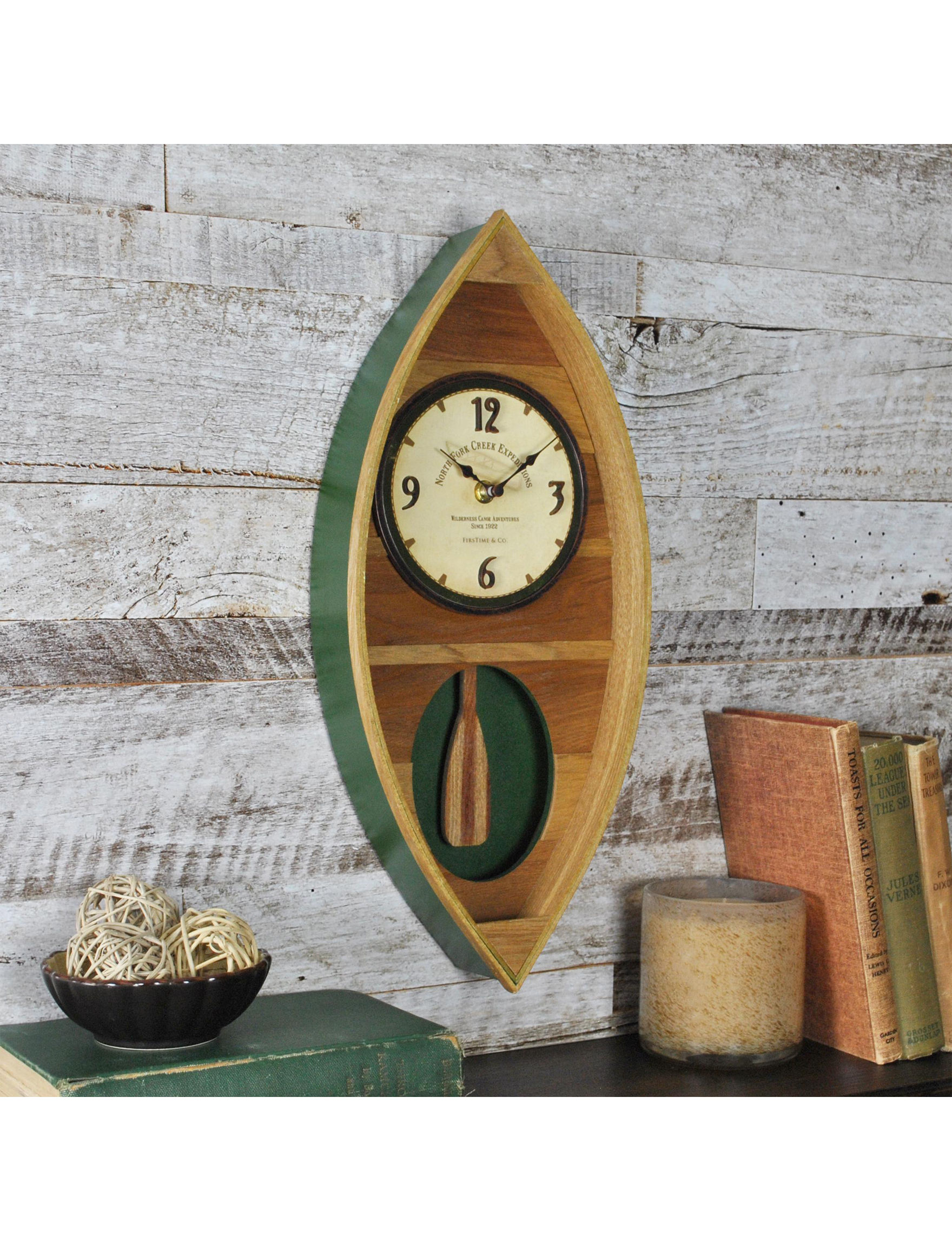 Firstime Manufactory Brown / Green Wall Clocks Wall Decor