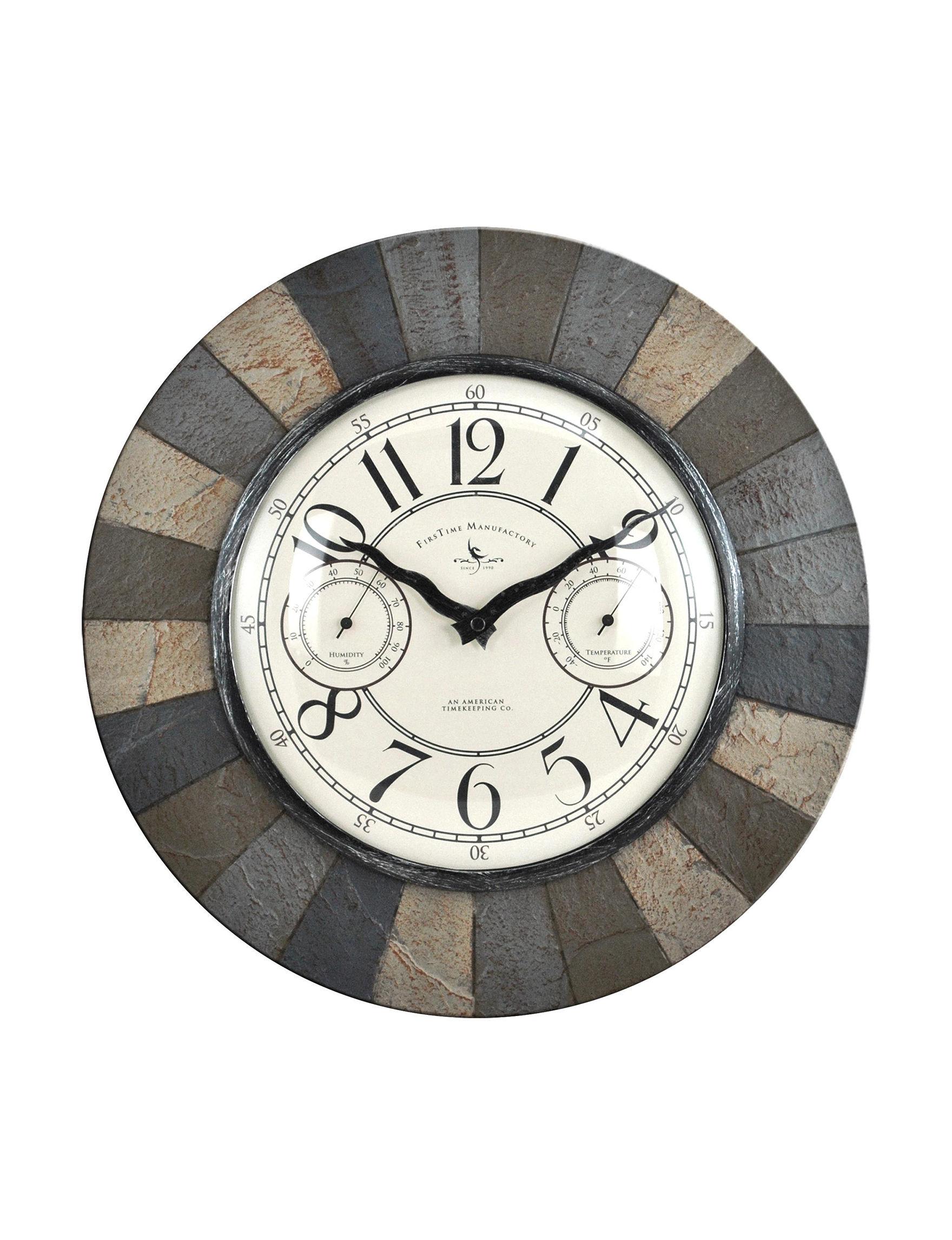 Firstime Manufactory Slate Wall Clocks Wall Decor