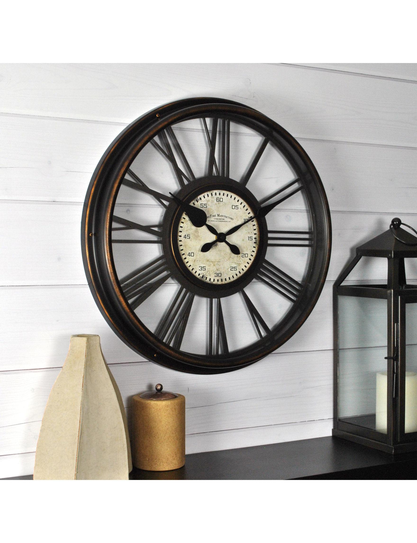 Firstime Manufactory Black Wall Clocks Wall Decor