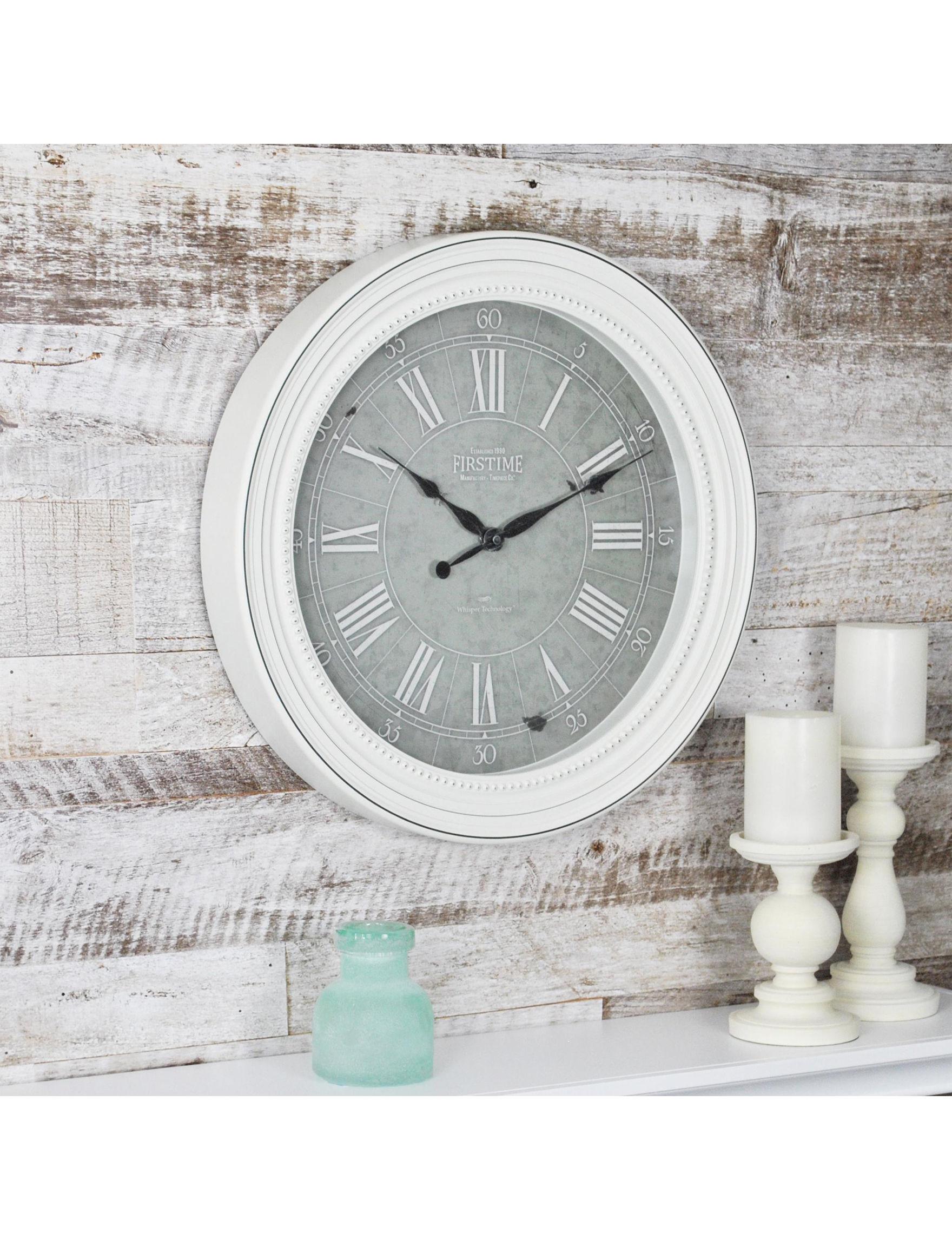 Firstime Manufactory White Wall Clocks Wall Decor