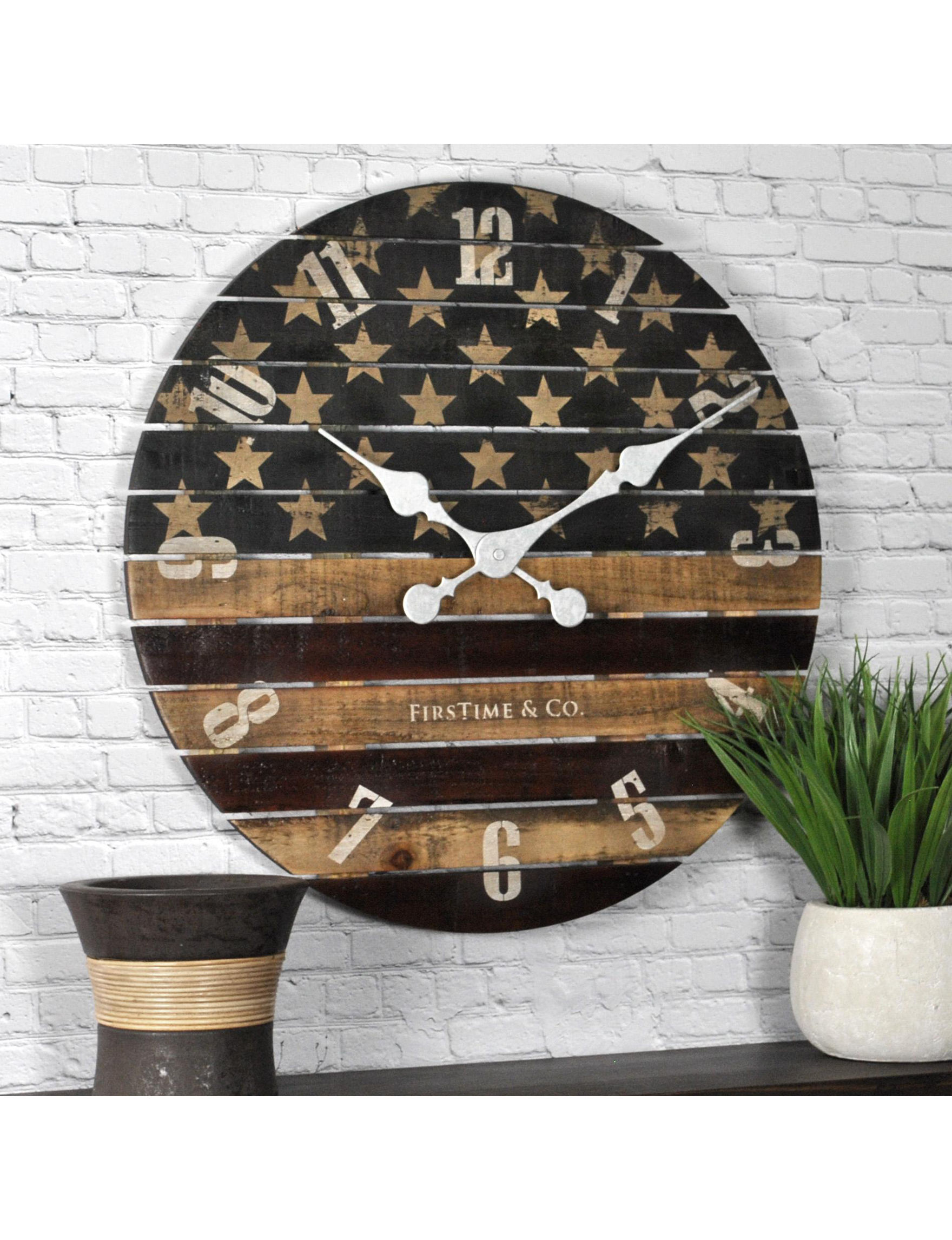 firstime manufactory old glory wall clock stage stores