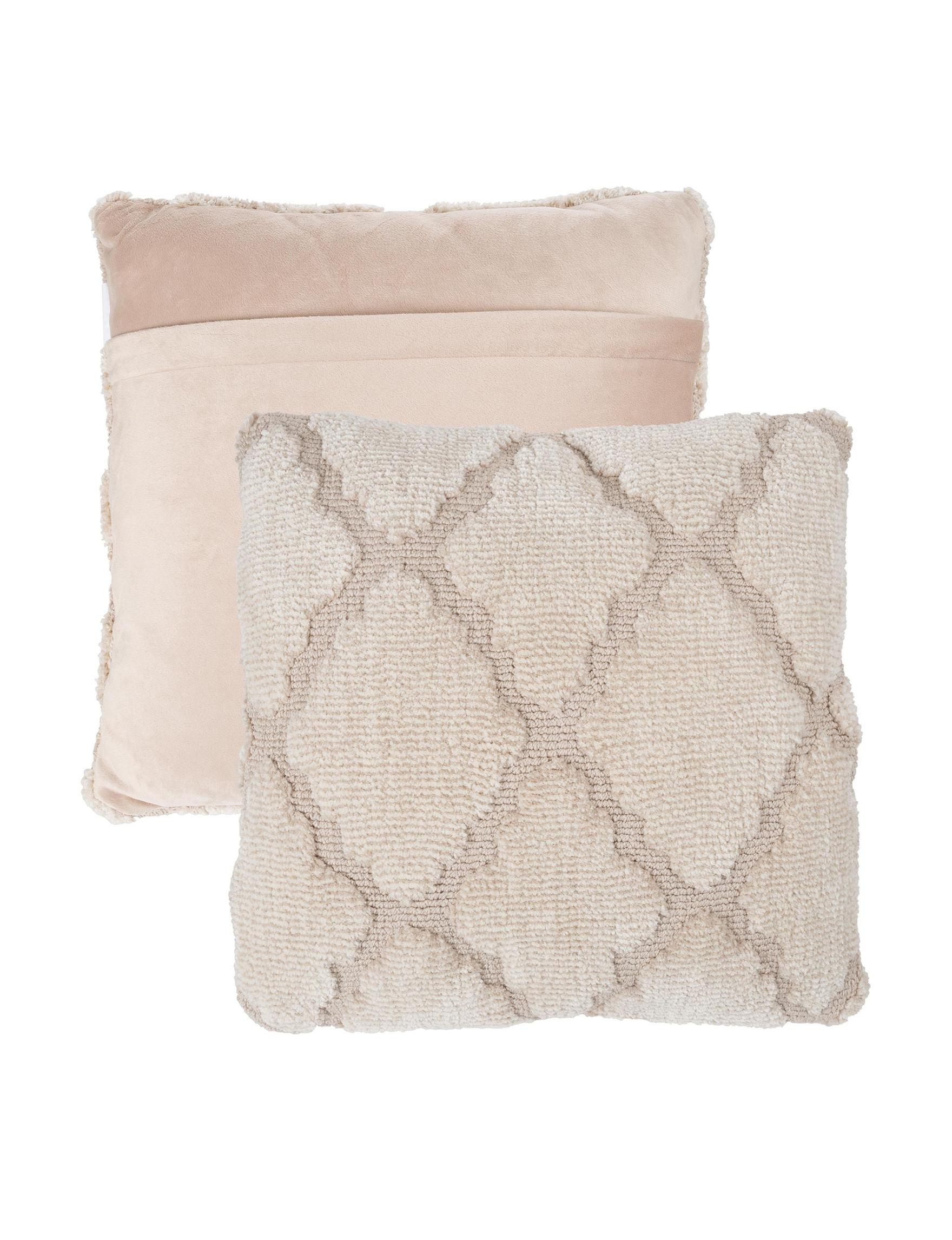 Lavish Home Beige Decorative Pillows