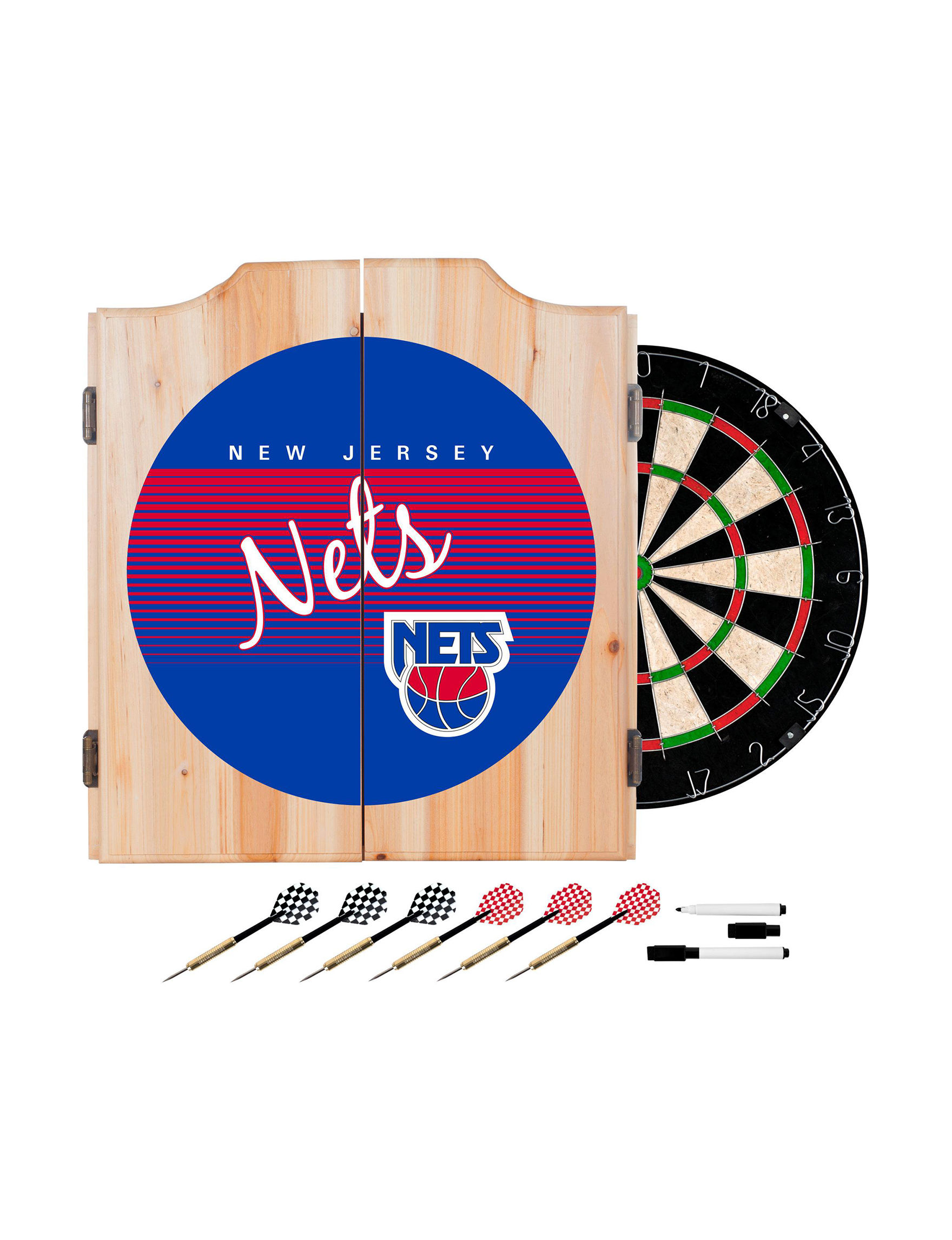 NBA Red / White / Blue Bar Accessories Game Room NBA