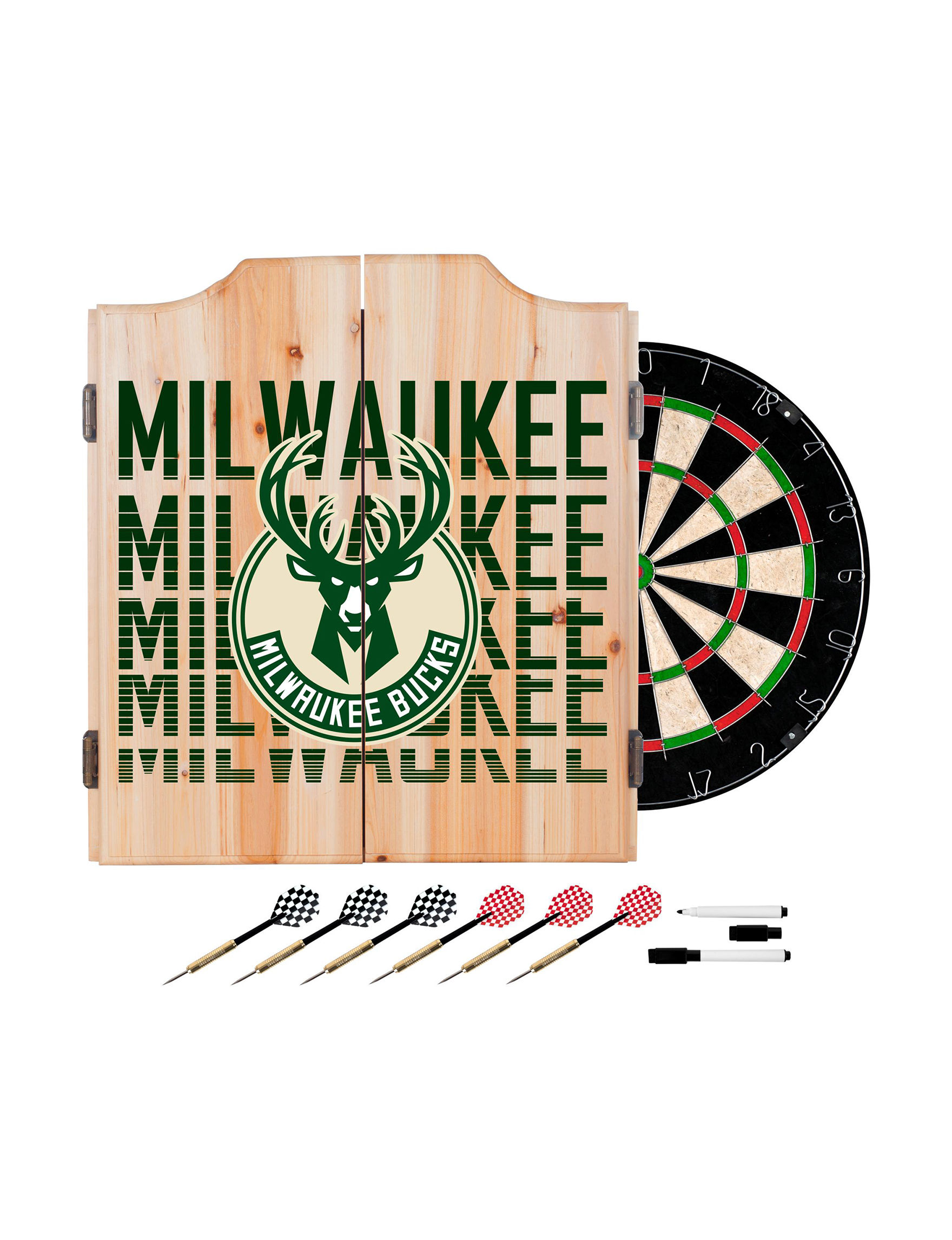 NBA Ivory/ Green Bar Accessories Game Room
