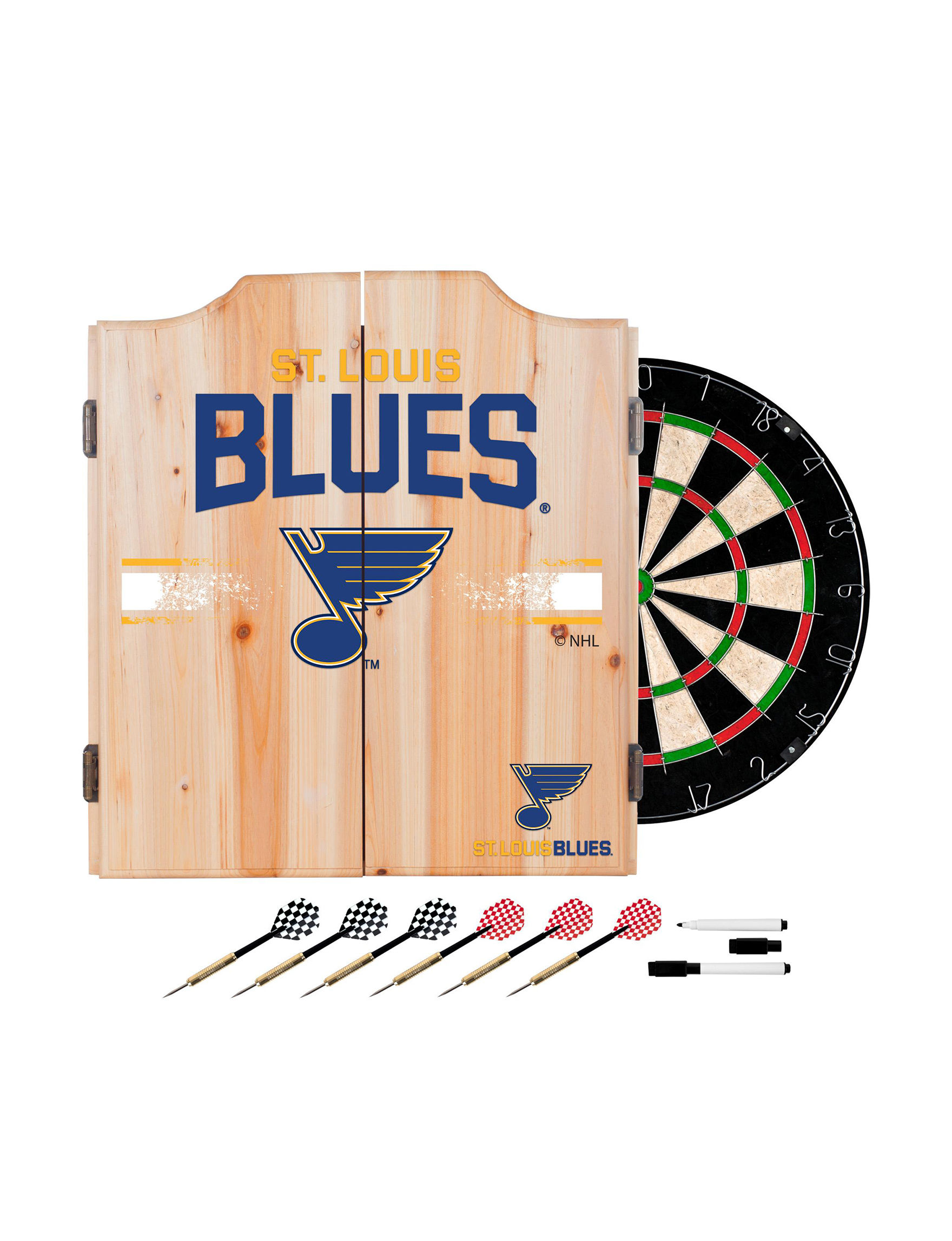 NHL Blue / Yellow Bar Accessories Game Room NHL