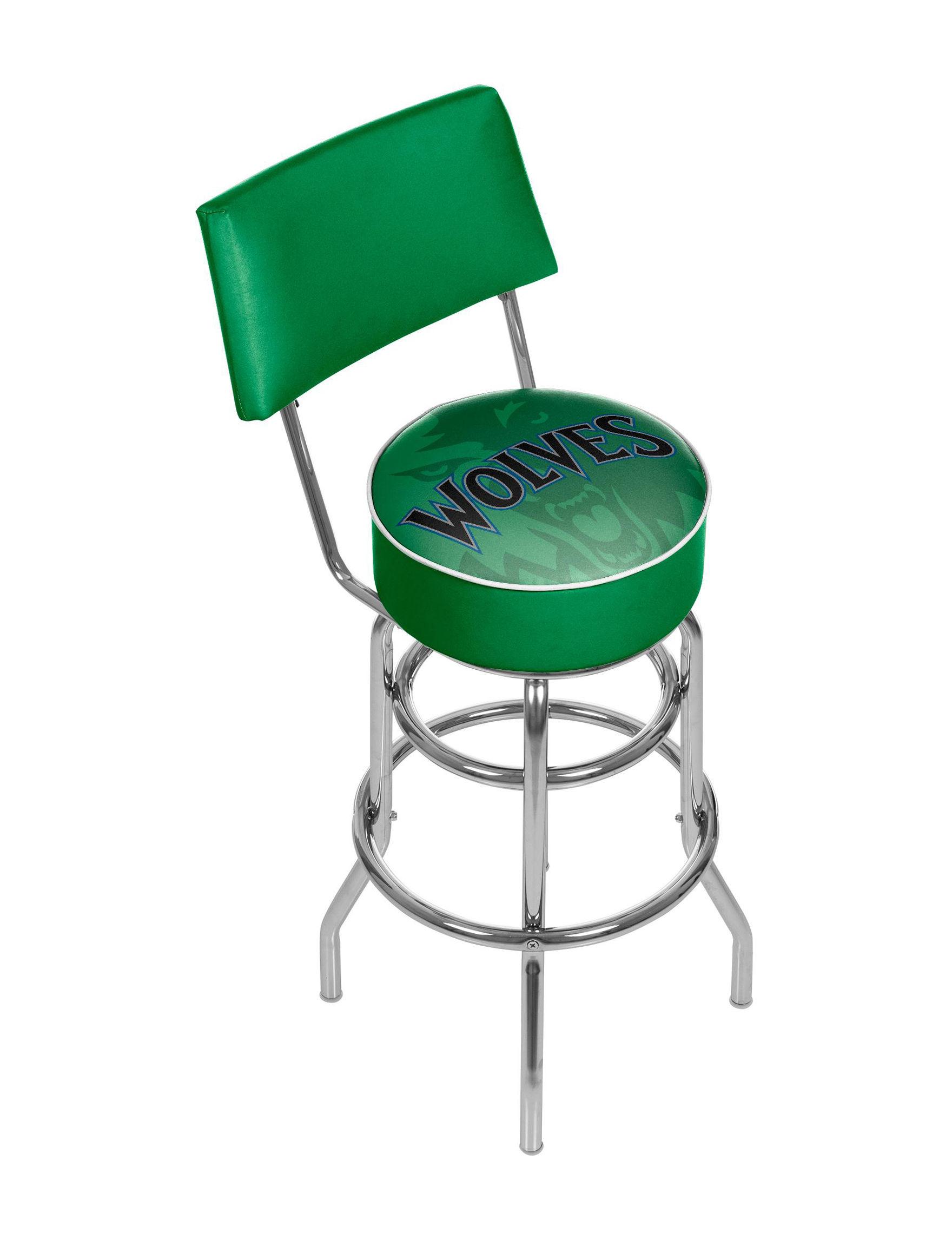Trademark Global Blue / Green Bar & Kitchen Stools Game Room Kitchen & Dining Furniture
