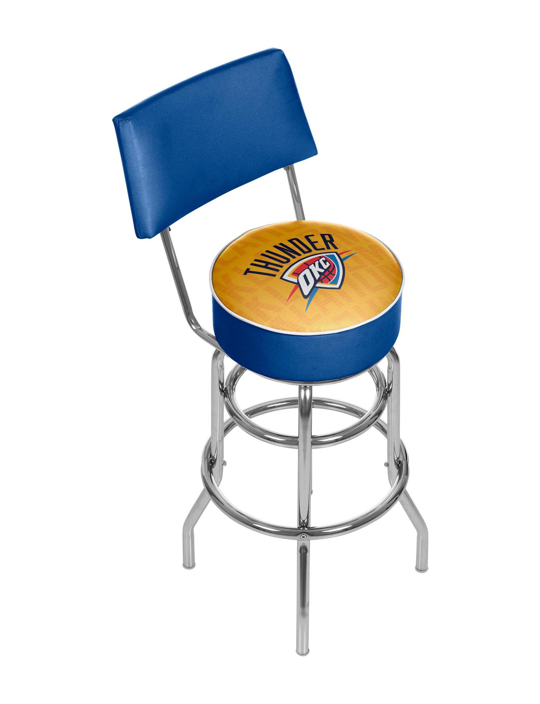 Trademark Global Blue / Yellow Bar & Kitchen Stools Game Room Kitchen & Dining Furniture