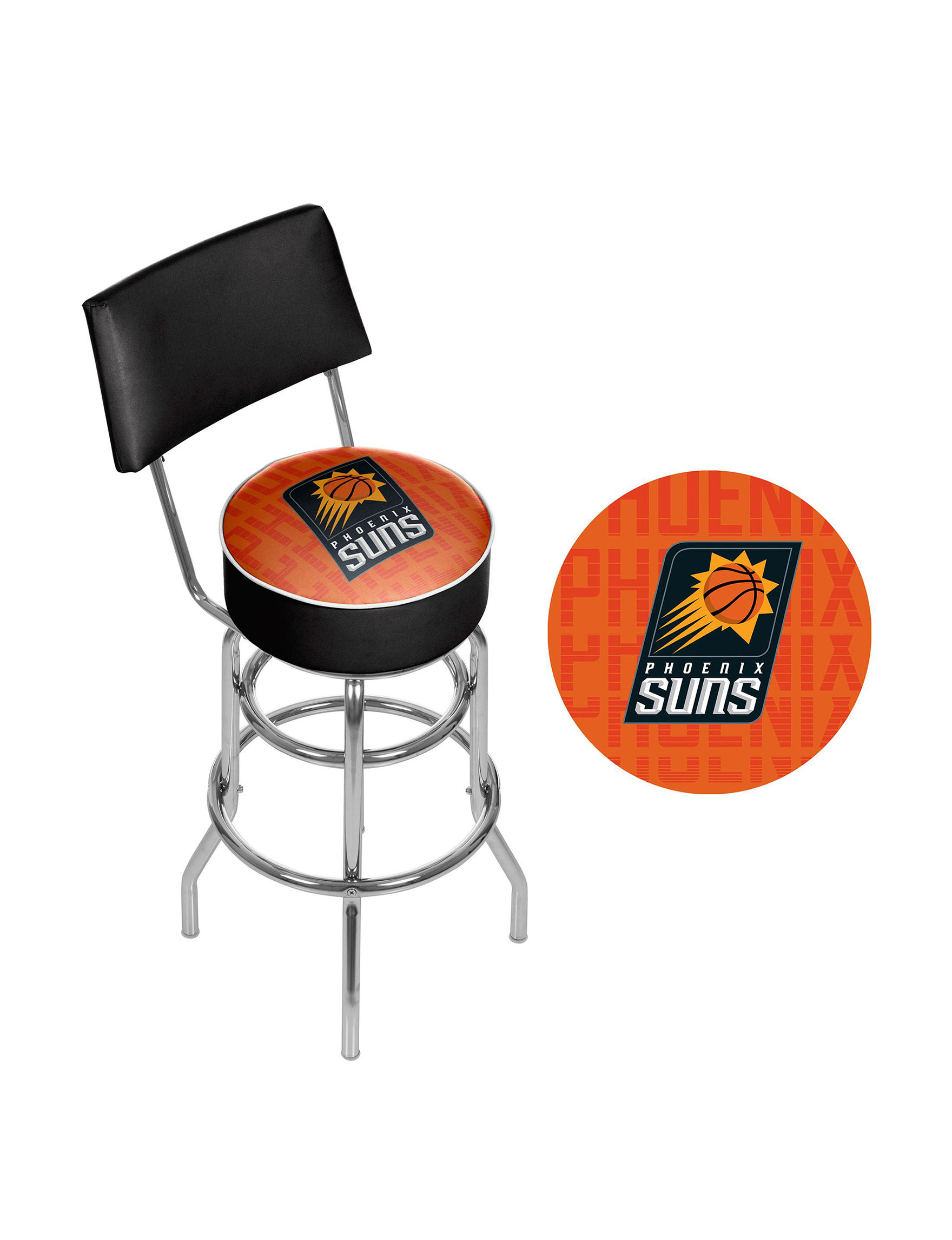 Trademark Global Orange / Black Bar & Kitchen Stools Game Room Kitchen & Dining Furniture