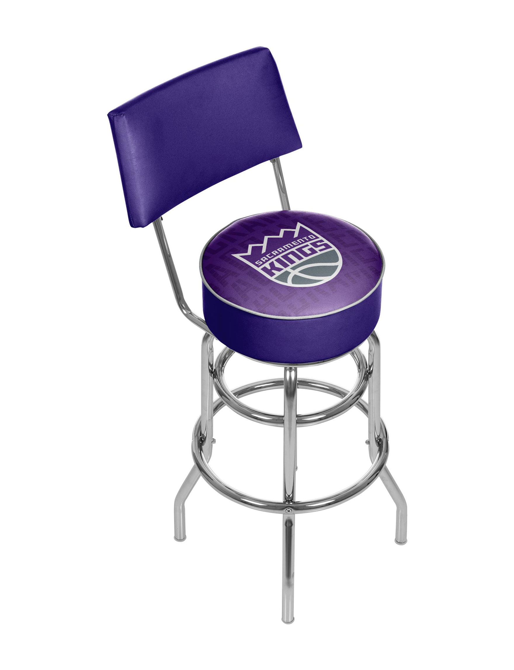 Trademark Global Purple / Grey Bar & Kitchen Stools Game Room Kitchen & Dining Furniture