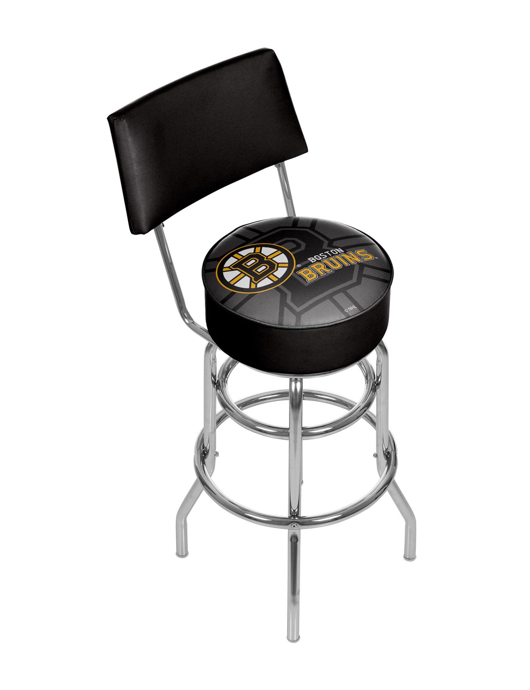 Trademark Global Black / Yellow Bar & Kitchen Stools Game Room Kitchen & Dining Furniture