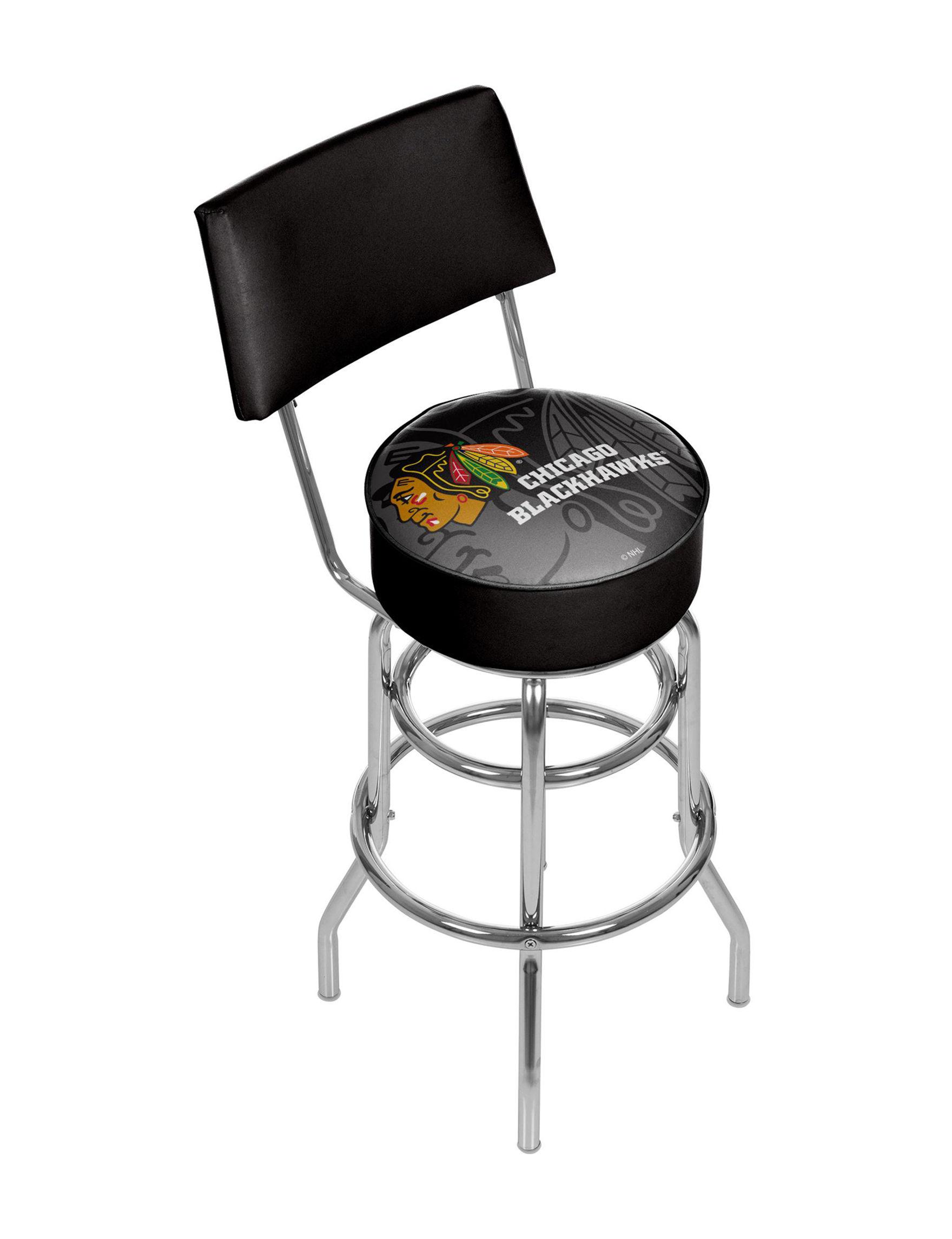 Trademark Global Black Multi Bar & Kitchen Stools Game Room Kitchen & Dining Furniture