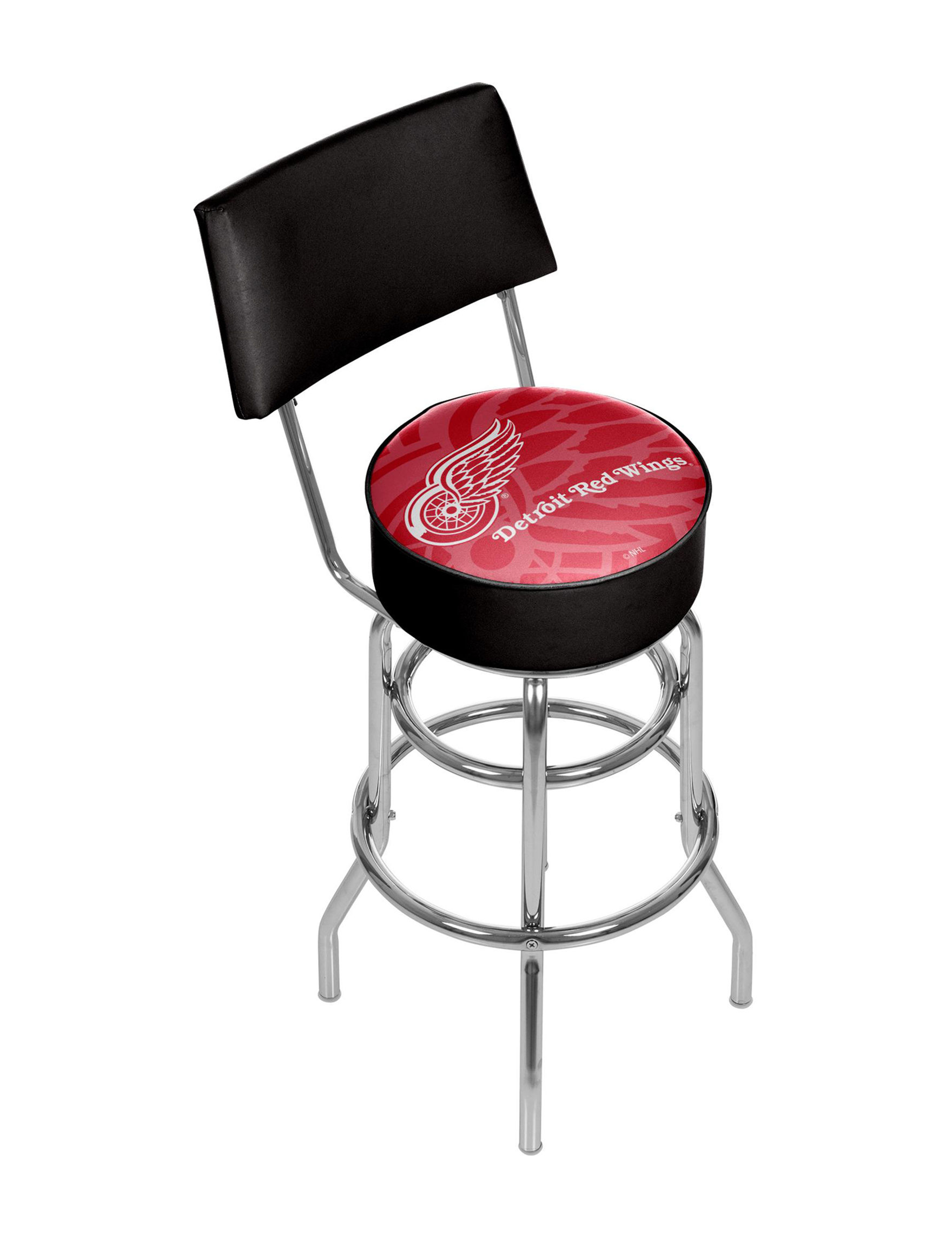 Trademark Global Red / Black / White Bar & Kitchen Stools Game Room Kitchen & Dining Furniture