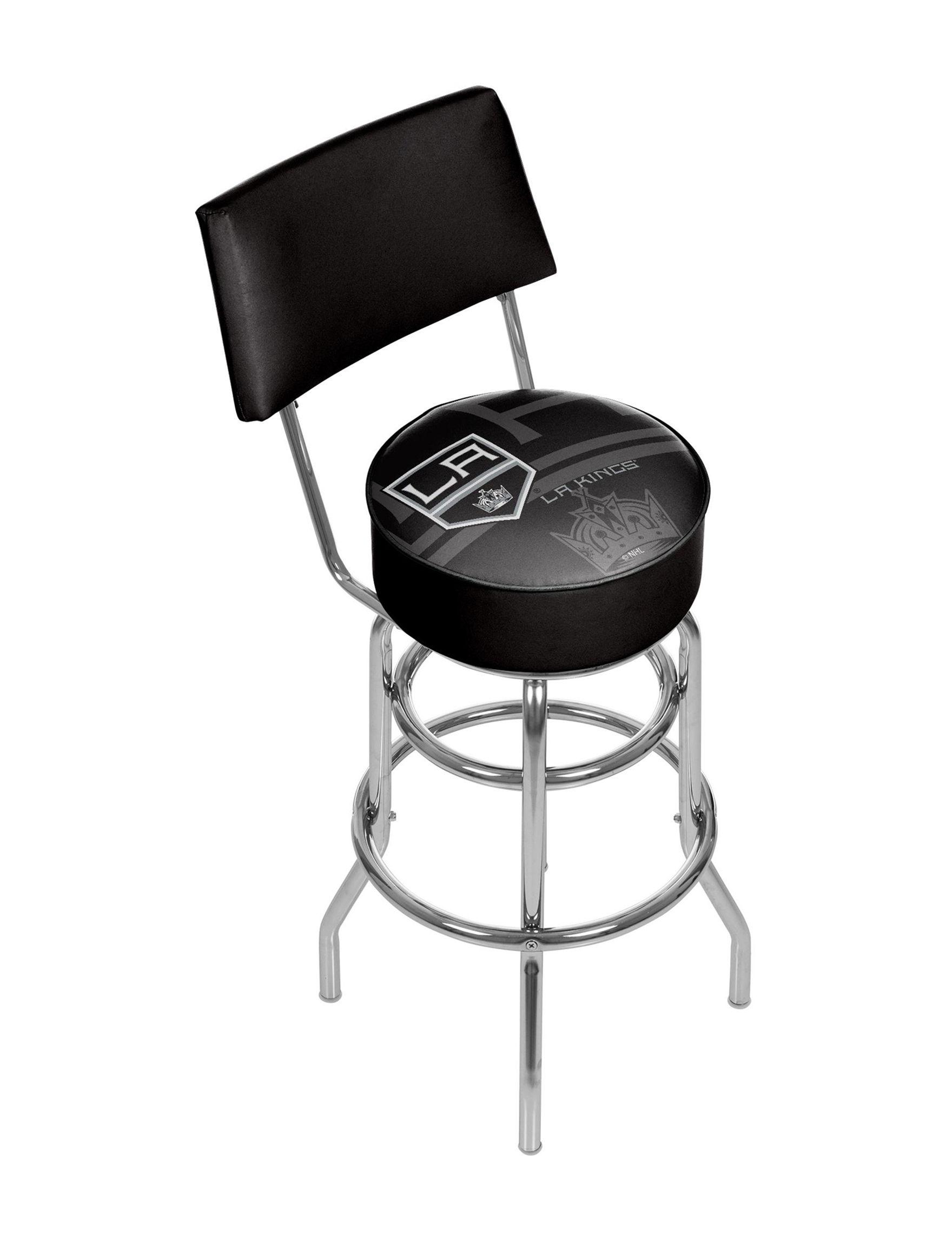 Trademark Global Black / White Bar & Kitchen Stools Game Room Kitchen & Dining Furniture