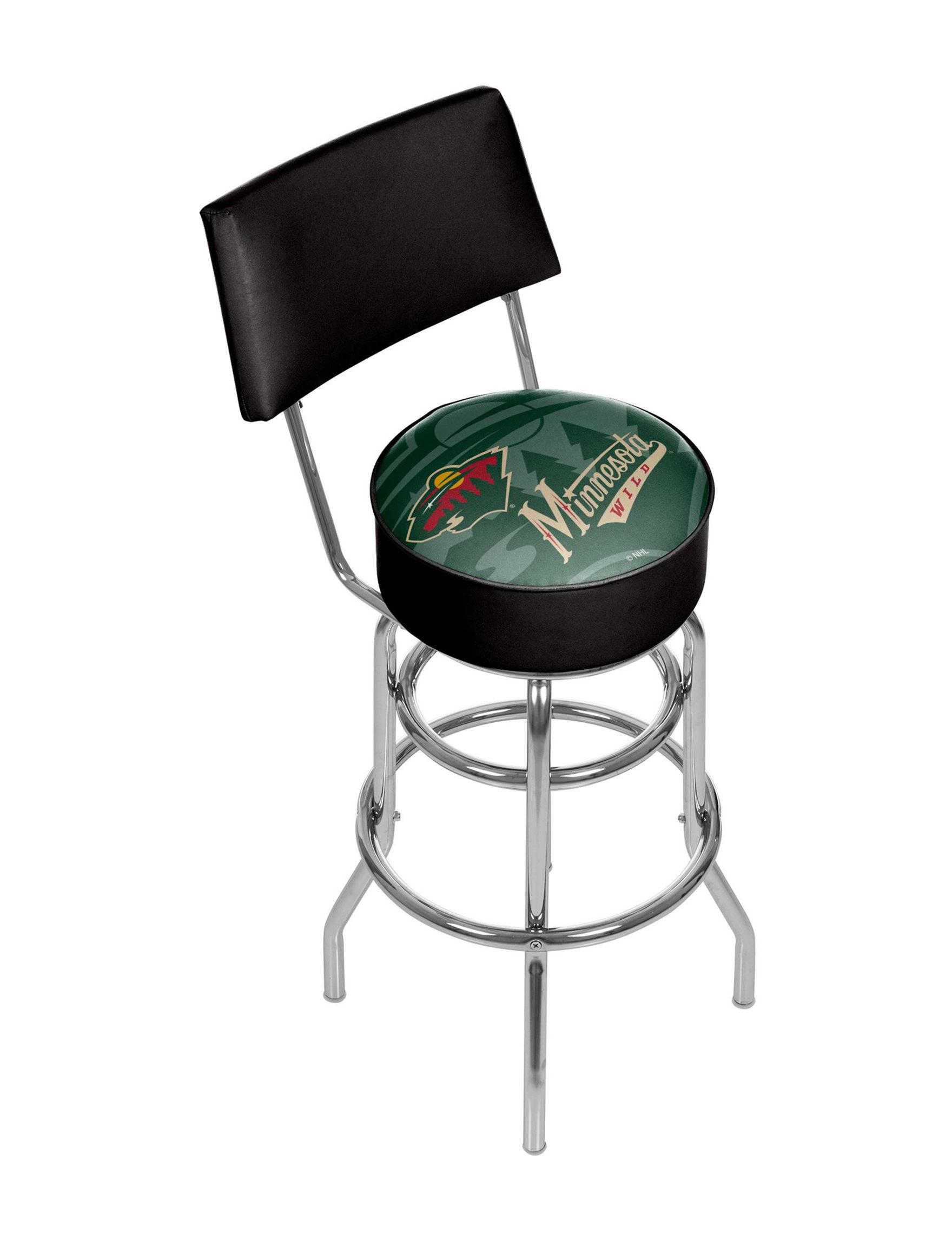 Trademark Global Green / Black Bar & Kitchen Stools Game Room