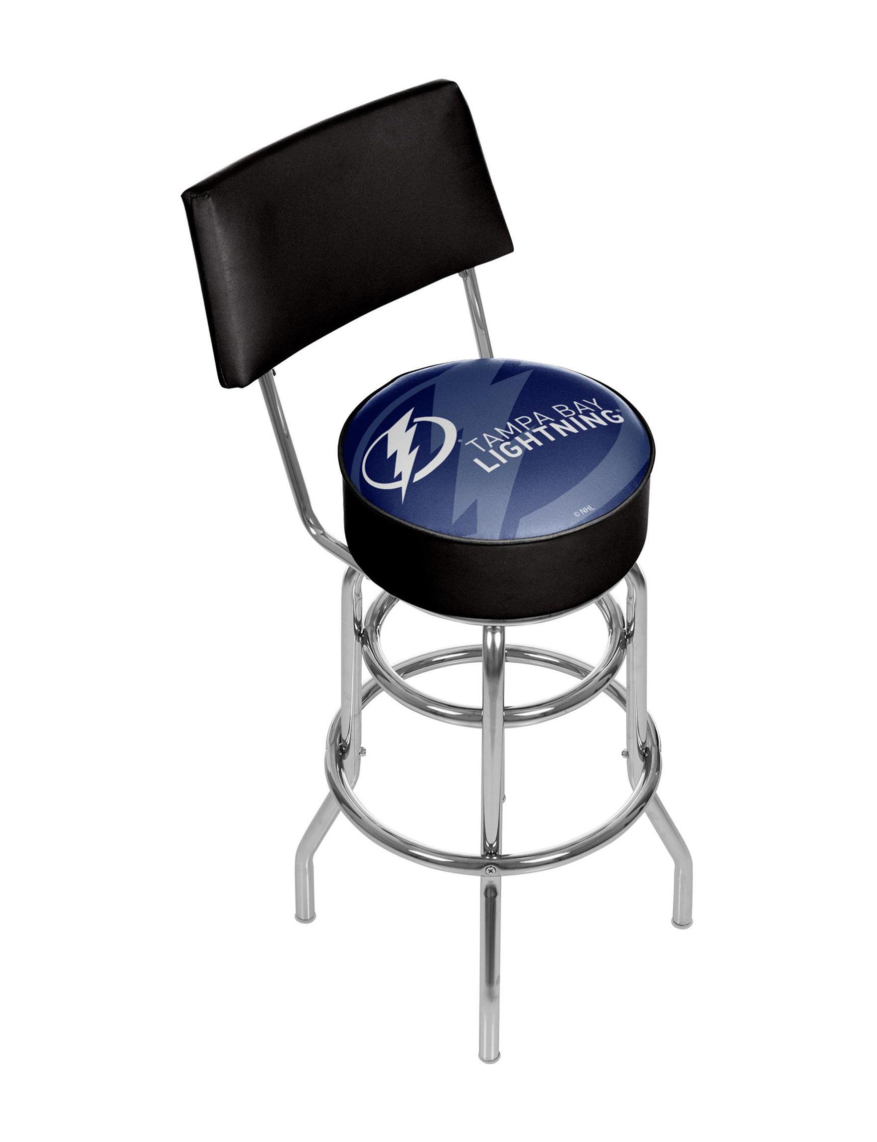 Trademark Global Blue / White / Black Bar & Kitchen Stools Game Room Kitchen & Dining Furniture