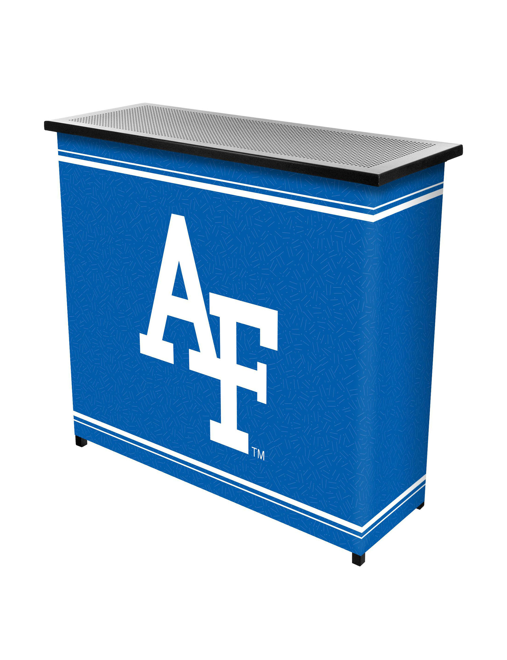 NCAA Blue / White Bar & Wine Storage Kitchen & Dining Furniture NCAA