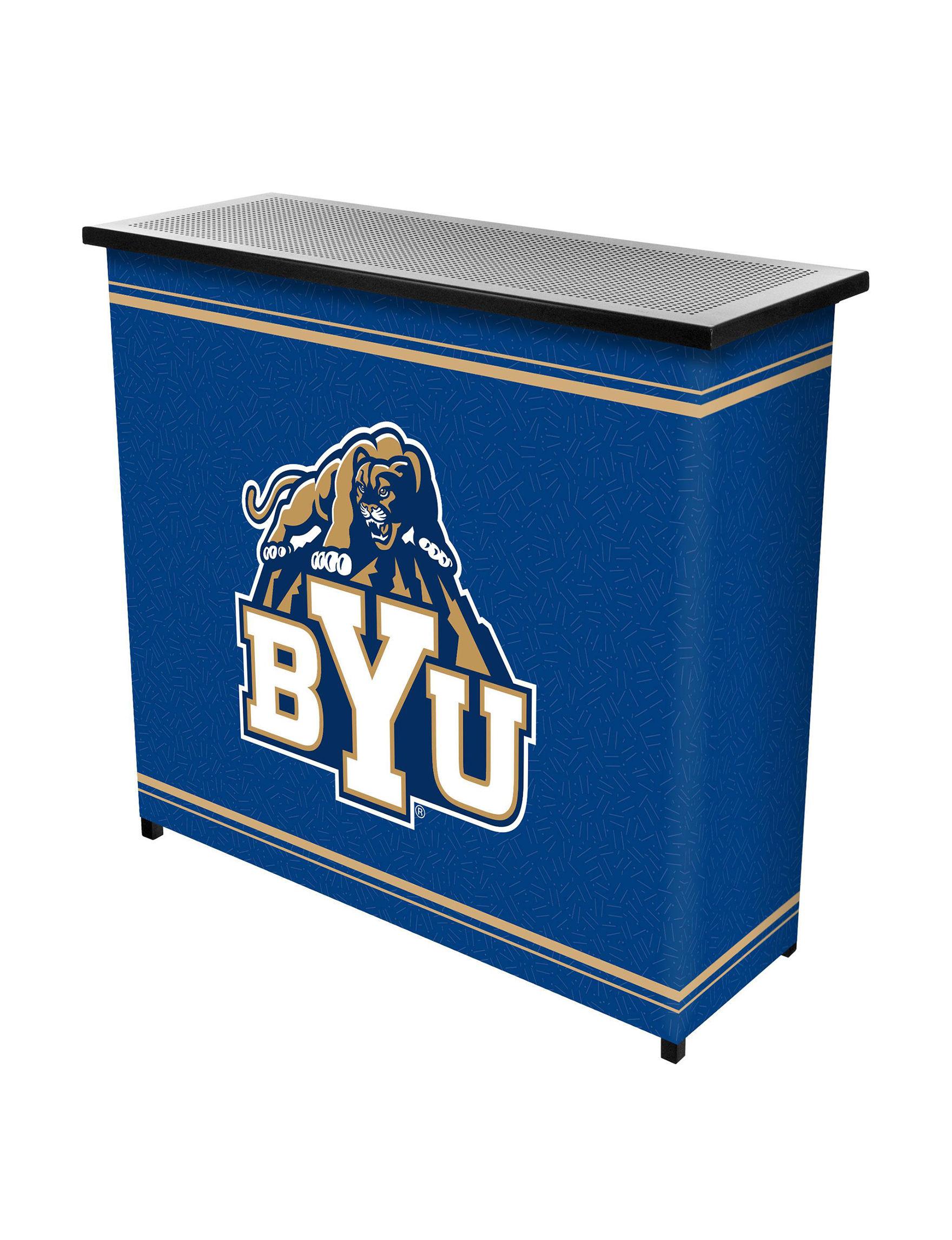 NCAA Blue / White Bar & Wine Storage Kitchen & Dining Furniture